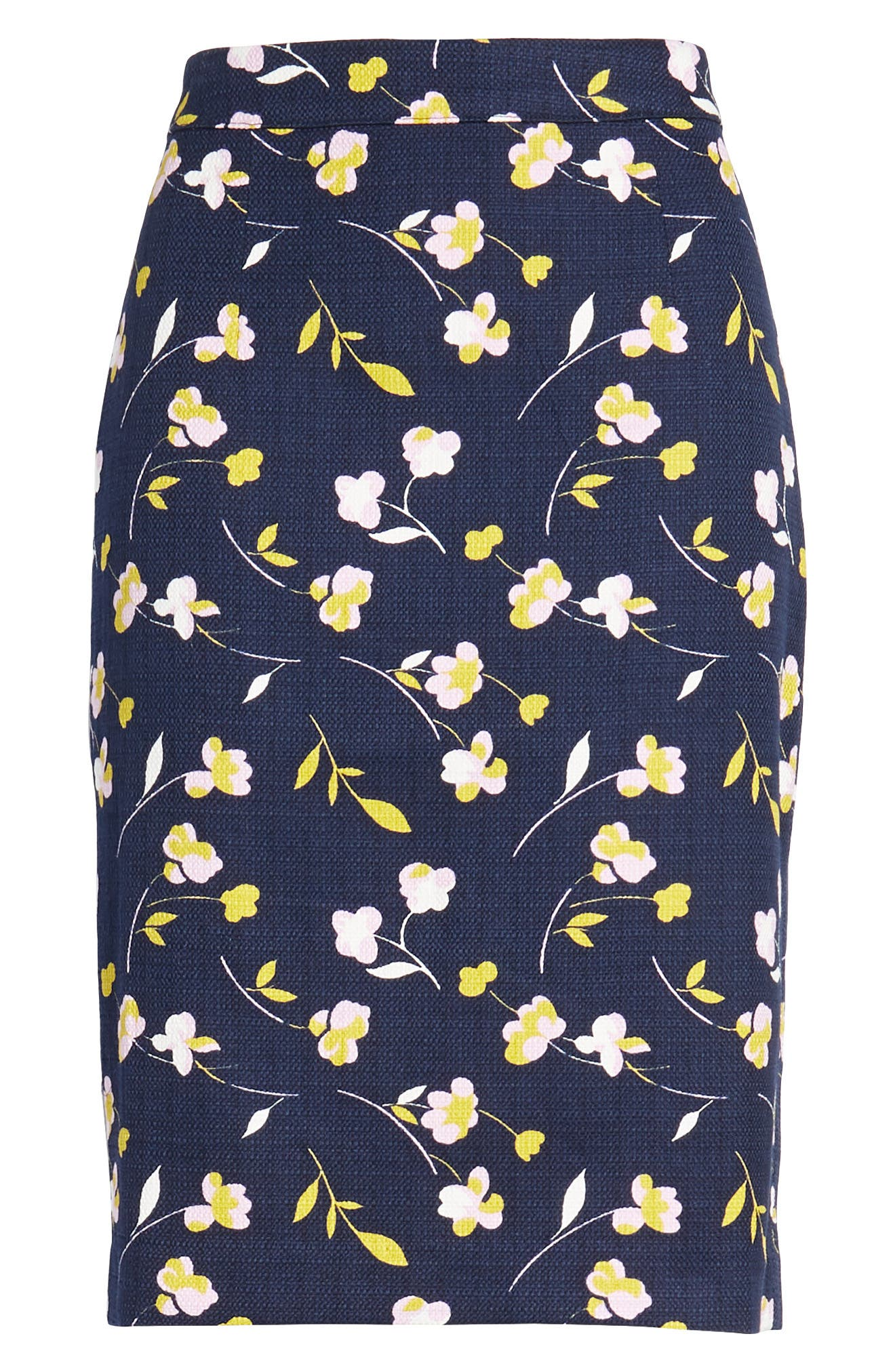 Martha Floral Pencil Skirt,                             Alternate thumbnail 7, color,                             Rosebay/ Wildflower