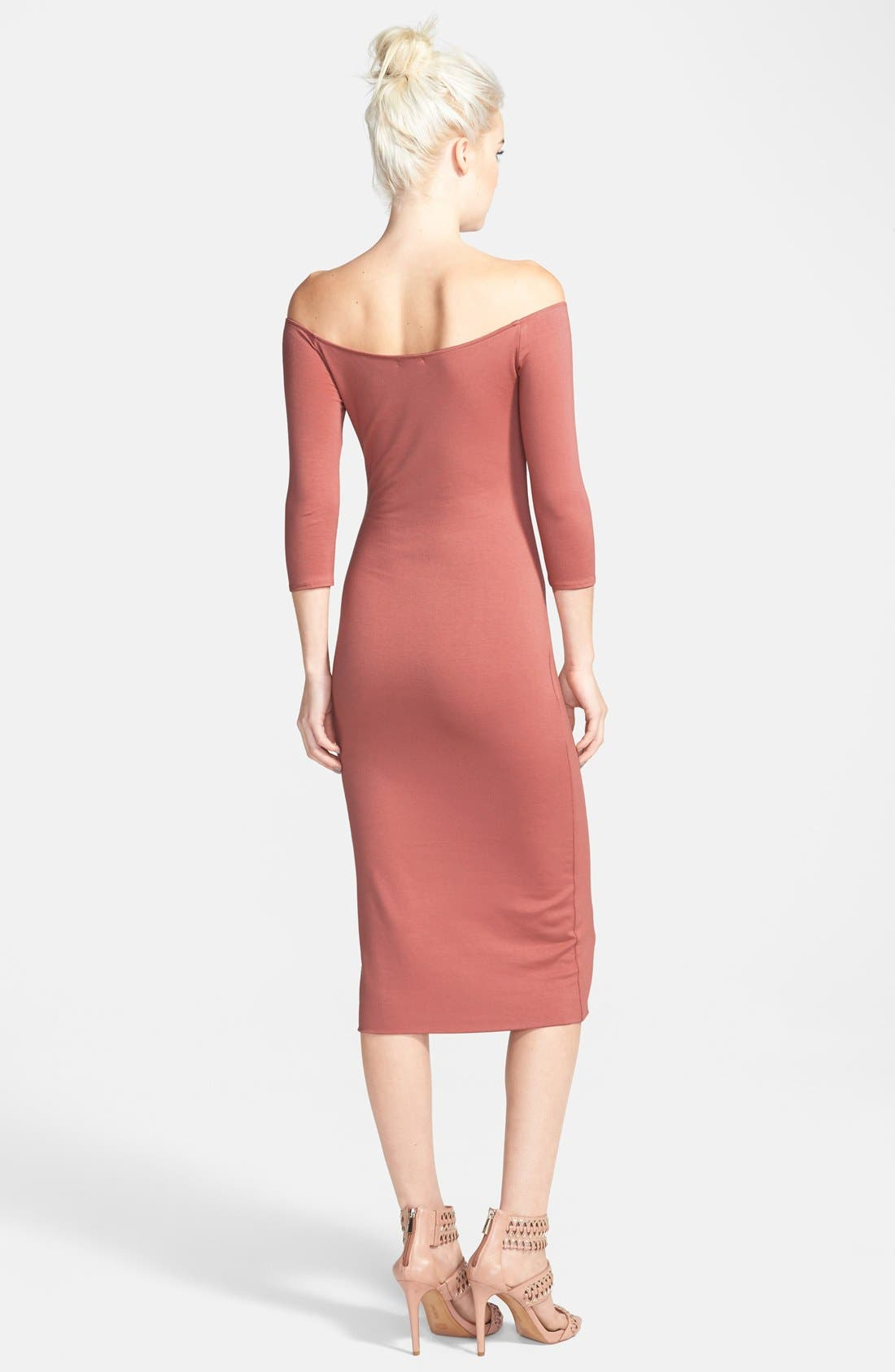 Alternate Image 2  - Tildon Off the Shoulder Midi Dress