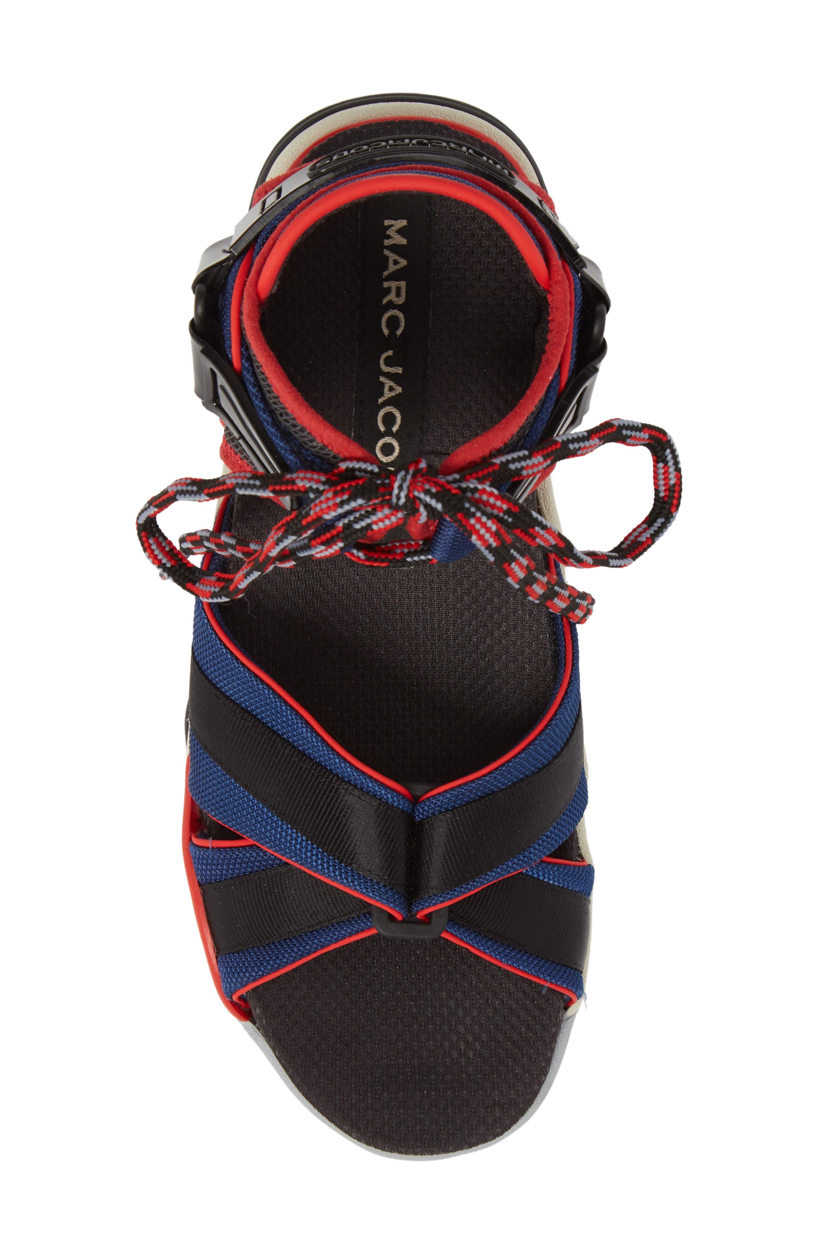Somewhere Sport Sandal,                             Alternate thumbnail 5, color,                             Red Multi