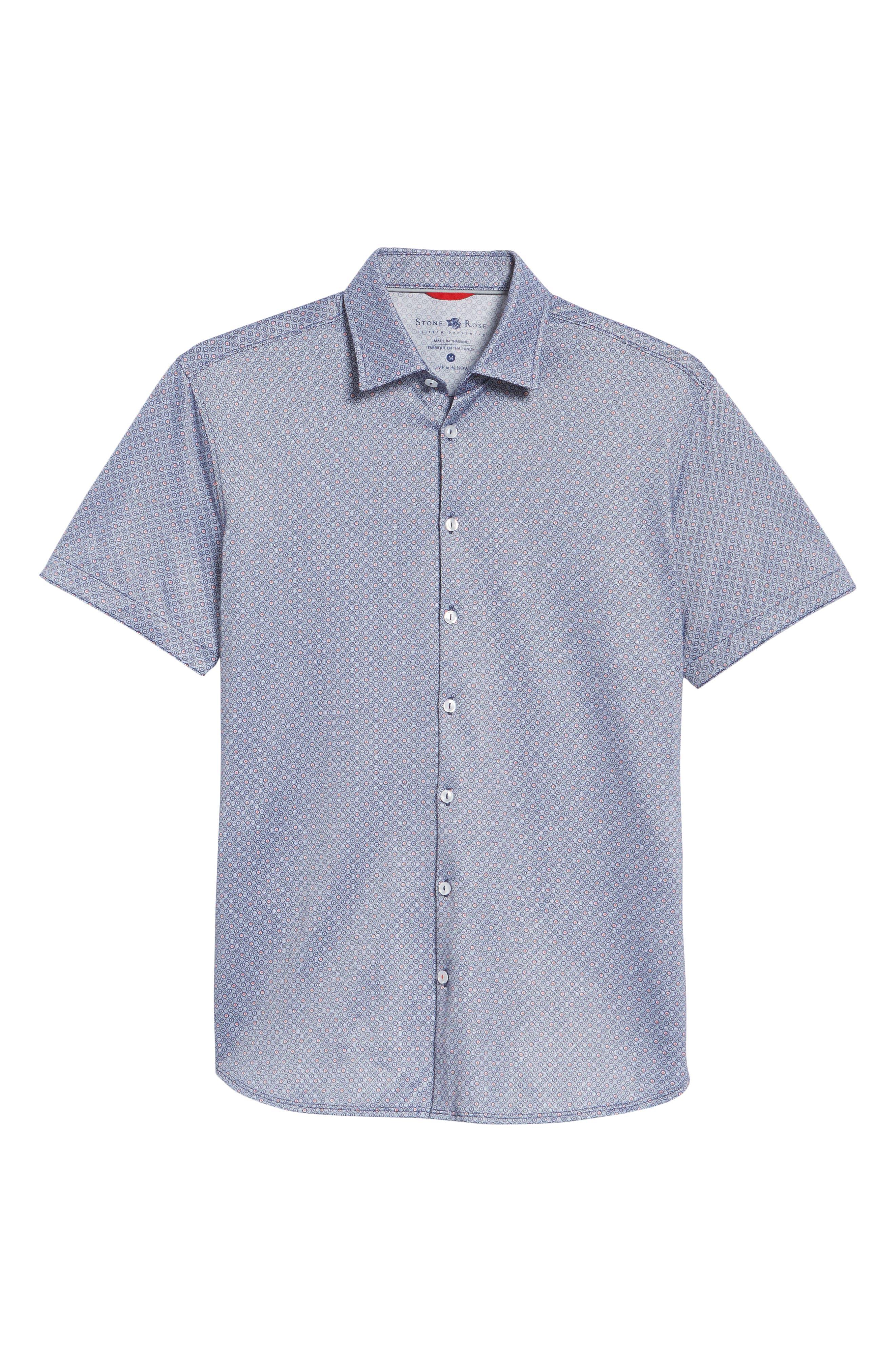 Alternate Image 6  - Stone Rose Contemporary Fit Geo Tech Sport Shirt