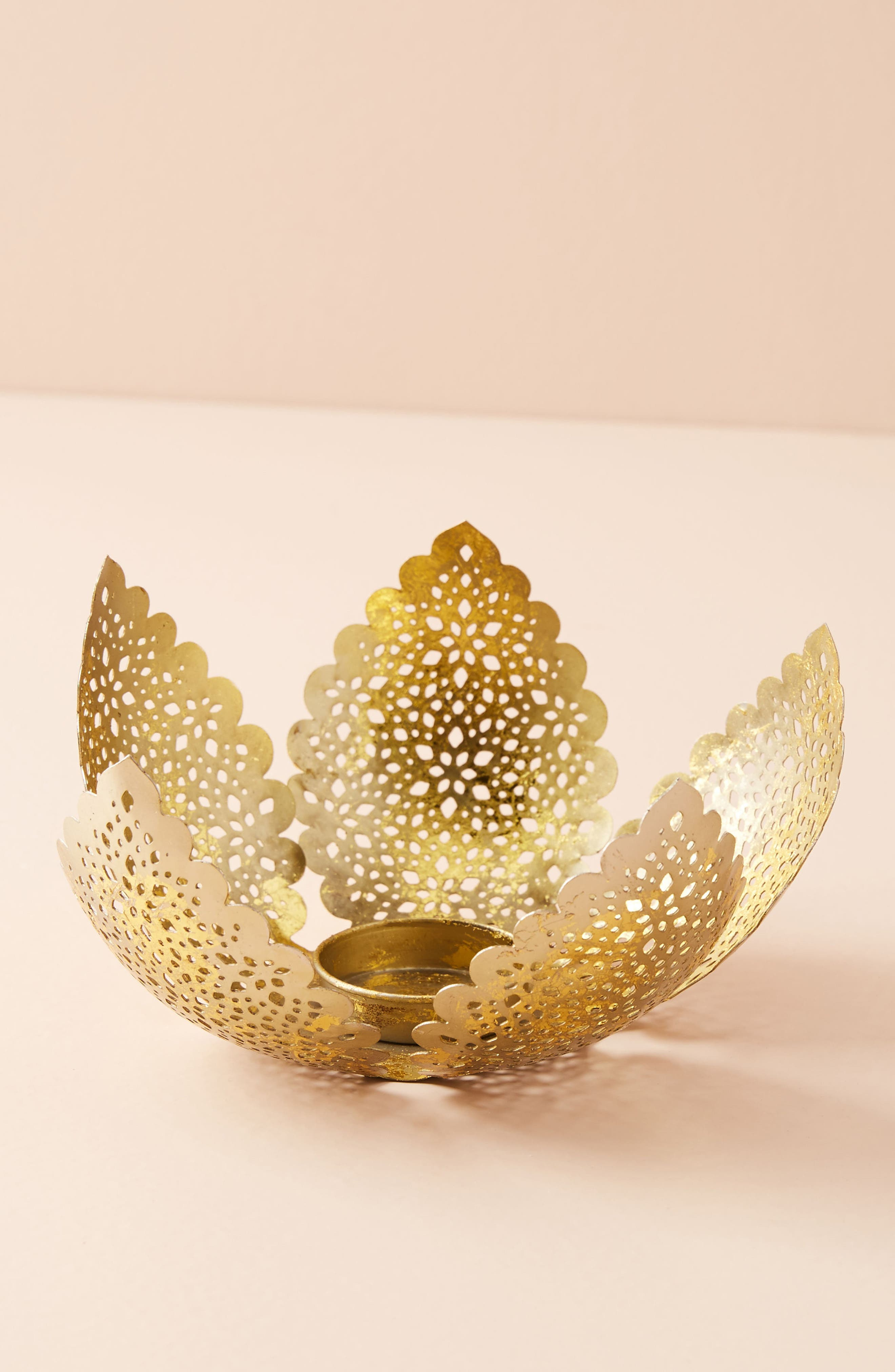 Blooming Bud Votive Candleholder,                             Main thumbnail 1, color,                             Gold