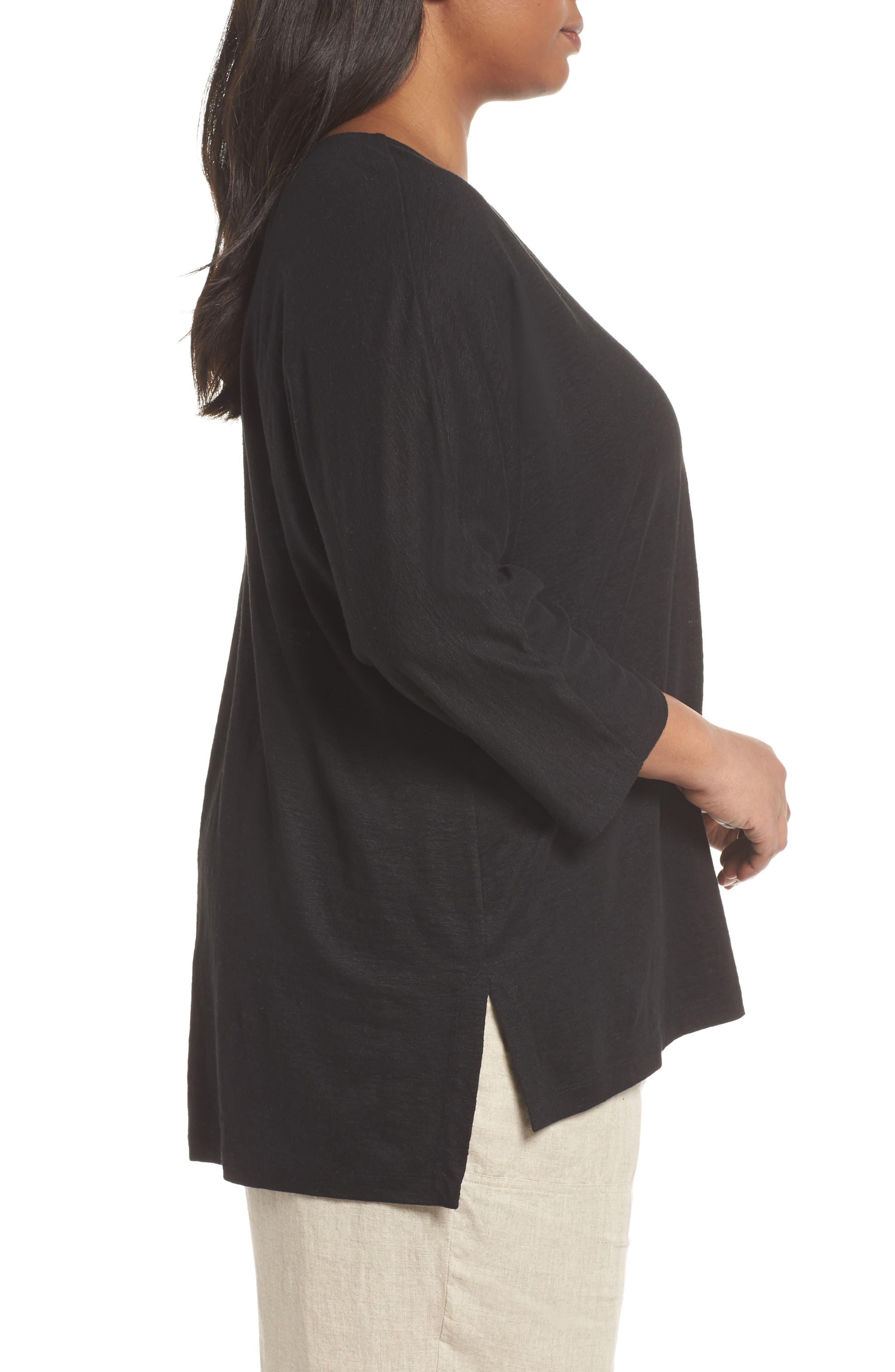 Alternate Image 3  - Eileen Fisher Organic Linen Top (Plus Size)