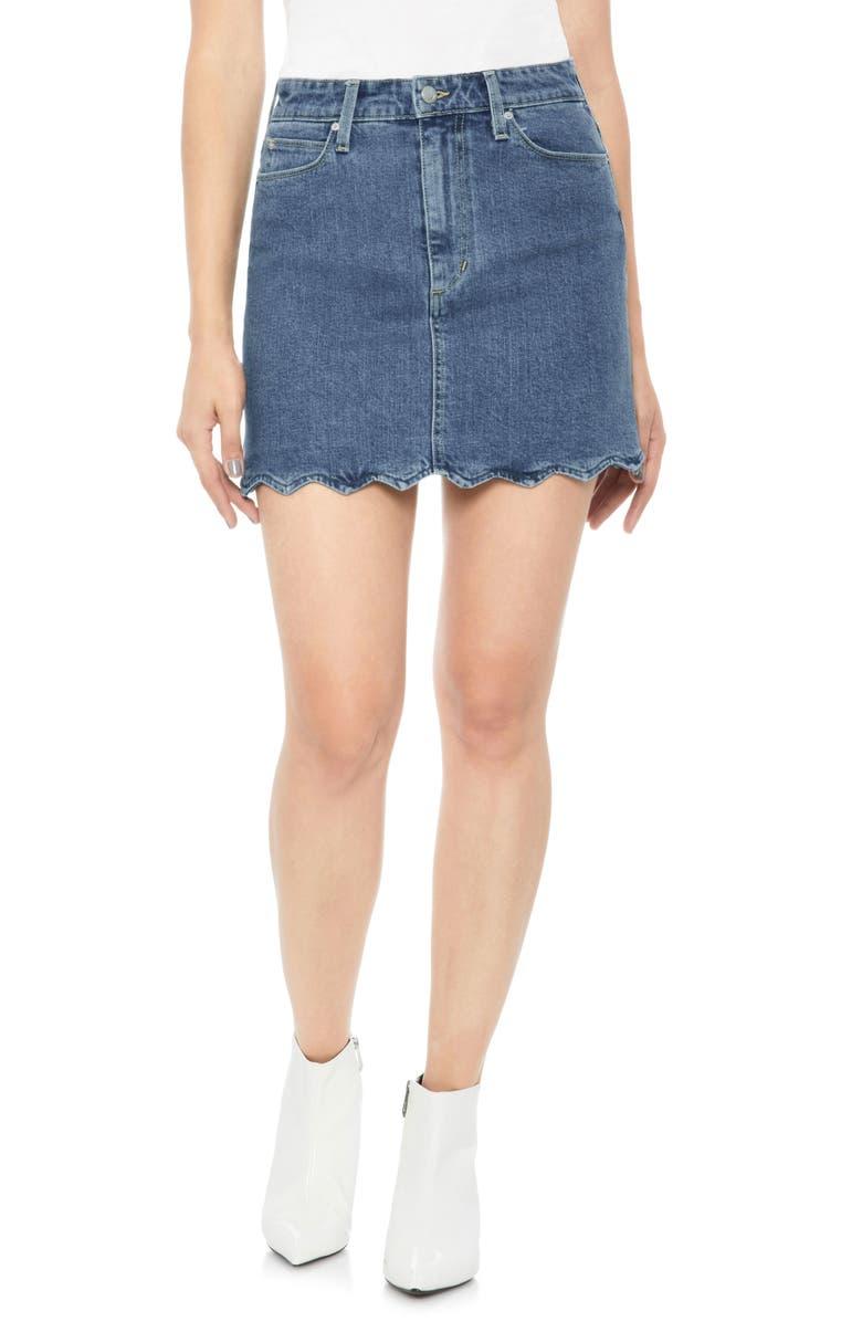 Bella Wavy Hem Denim Skirt