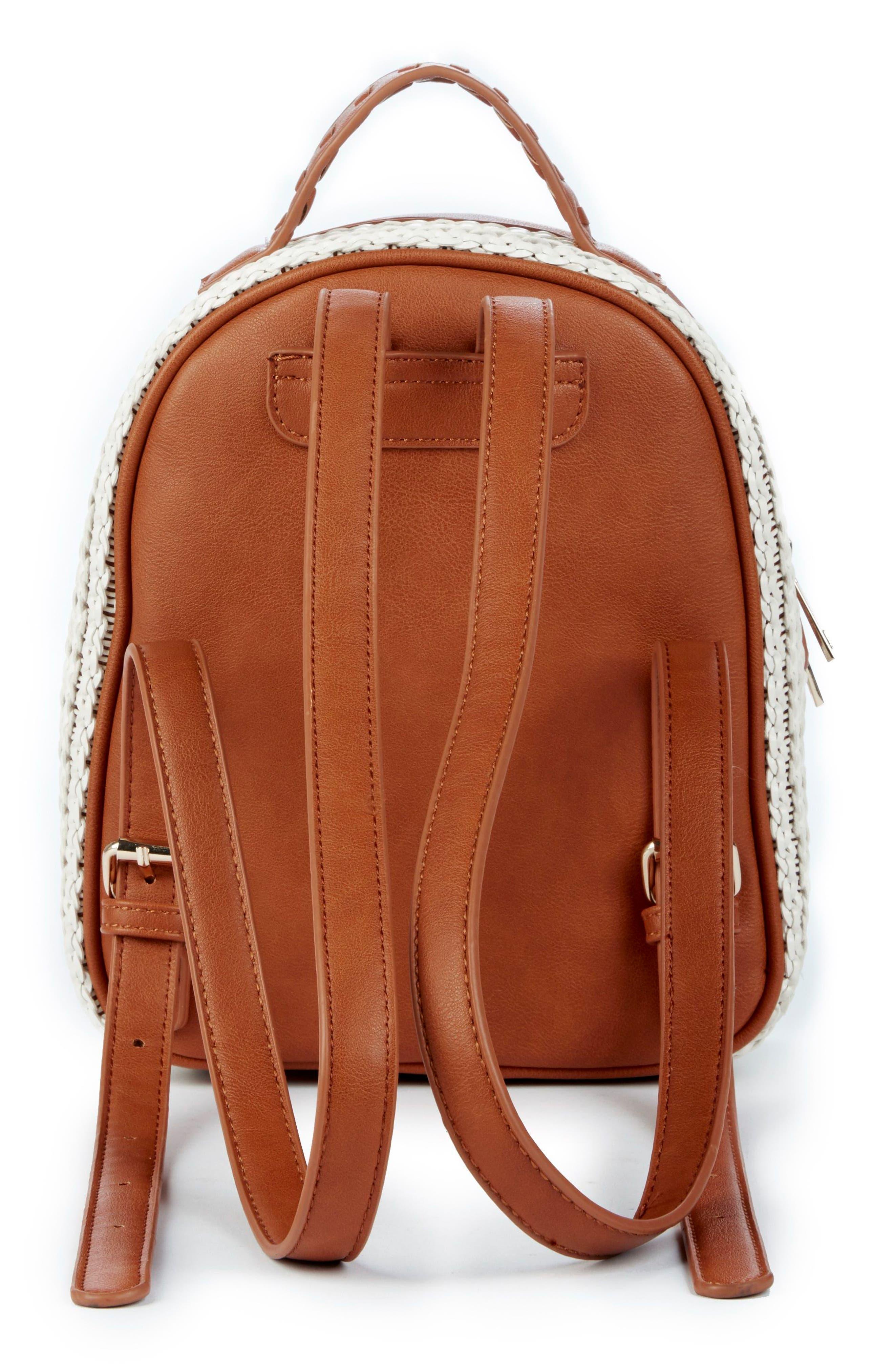 Nikole Faux Leather Backpack,                             Alternate thumbnail 2, color,                             Camel