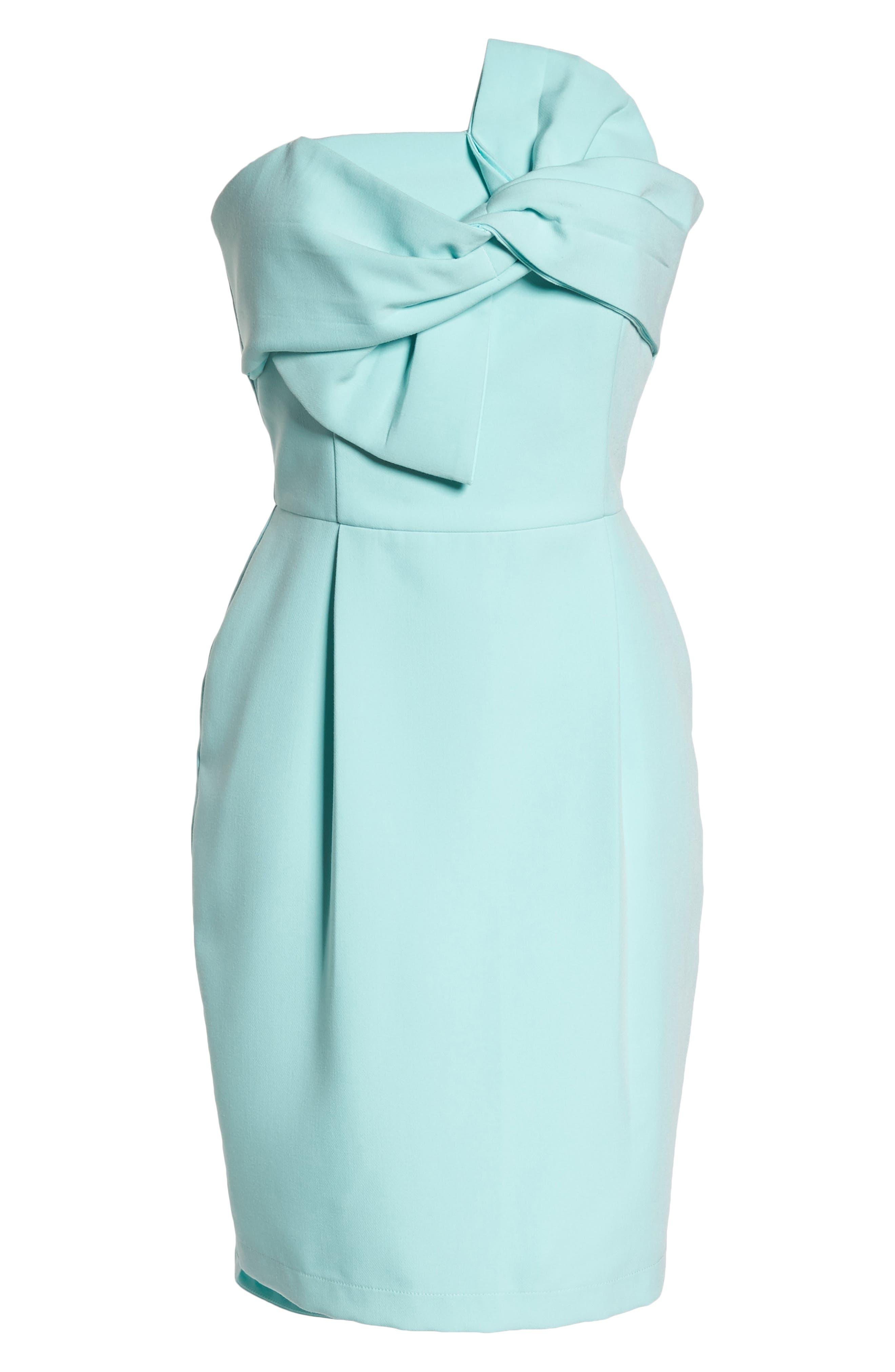 Alternate Image 6  - Adelyn Rae Krissy Twist Front Strapless Dress