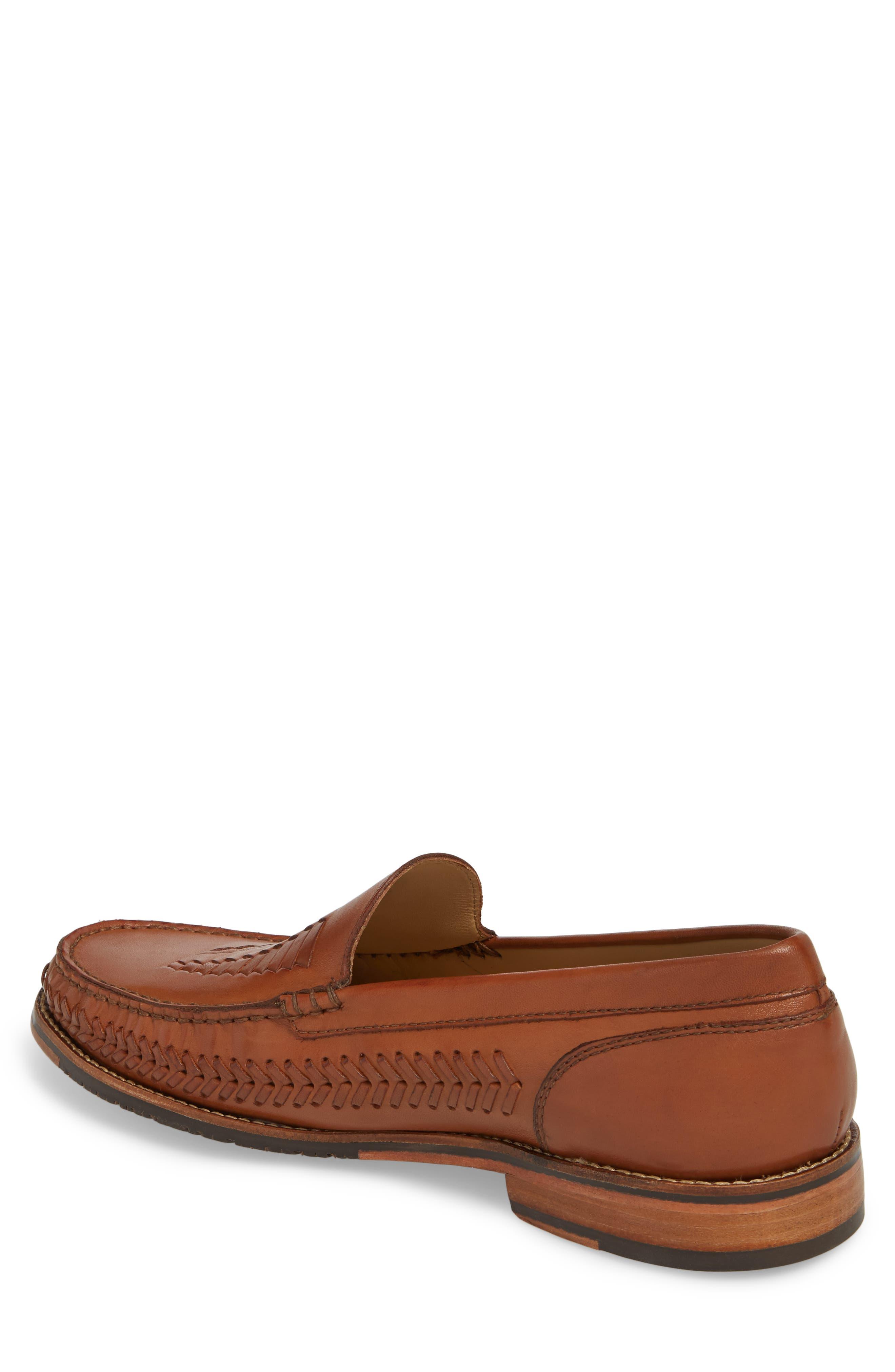 Hasslington Woven Venetian Loafer,                             Alternate thumbnail 2, color,                             Tan Leather