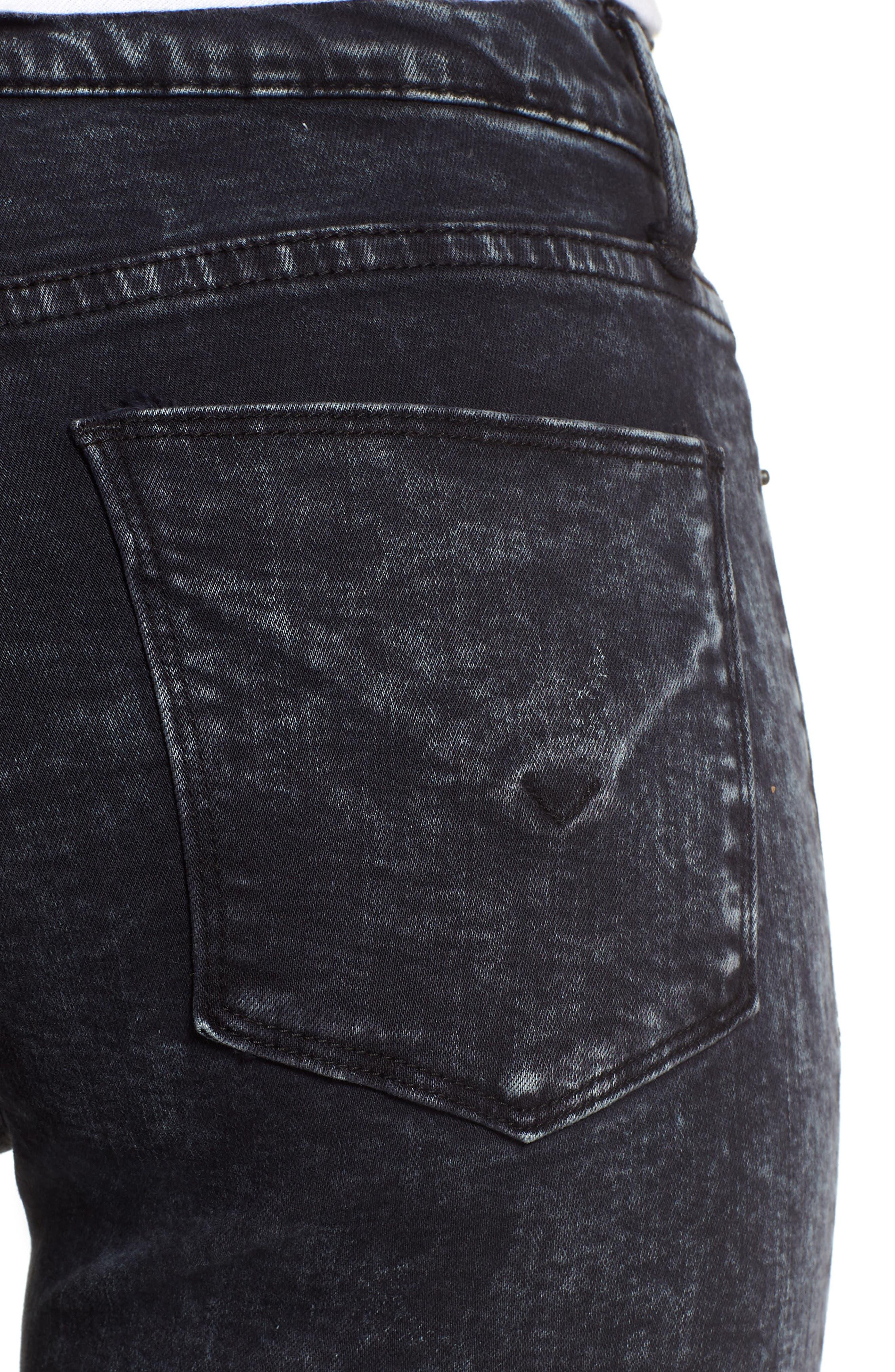 Barbara High Waist Ankle Skinny Jeans,                             Alternate thumbnail 4, color,                             Dainty