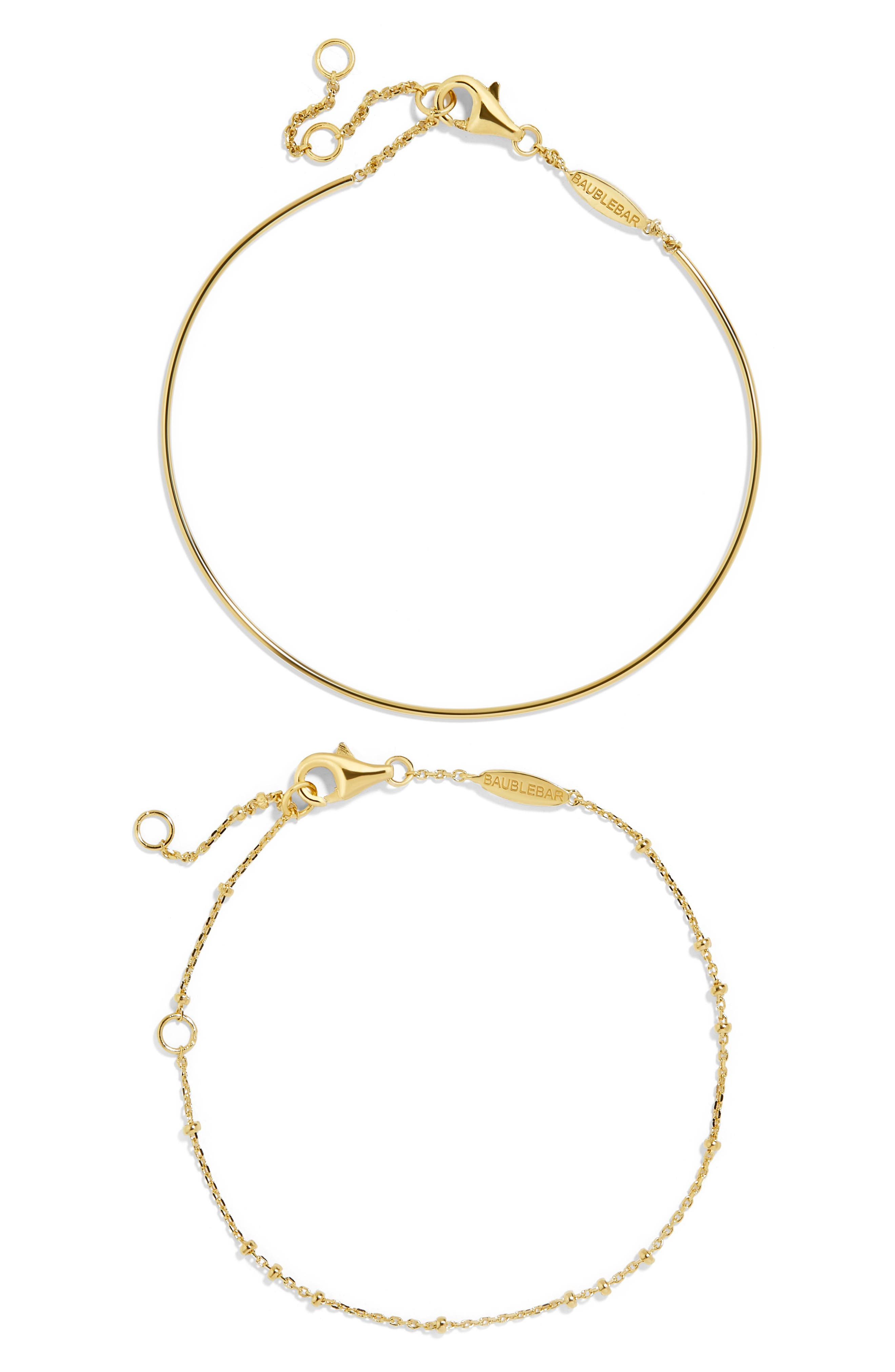 Opposto Everyday Fine Set of 2 Bracelets,                             Main thumbnail 1, color,                             Gold