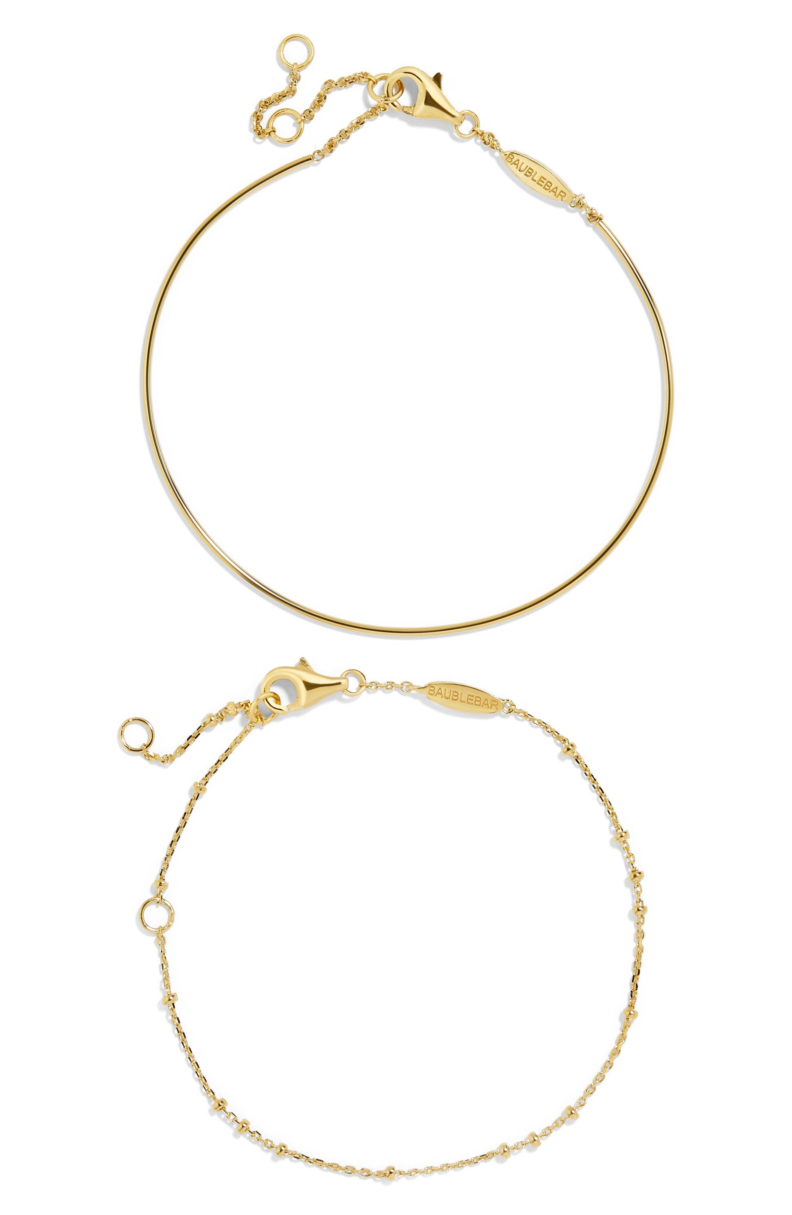 Opposto Everyday Fine Set of 2 Bracelets,                         Main,                         color, Gold