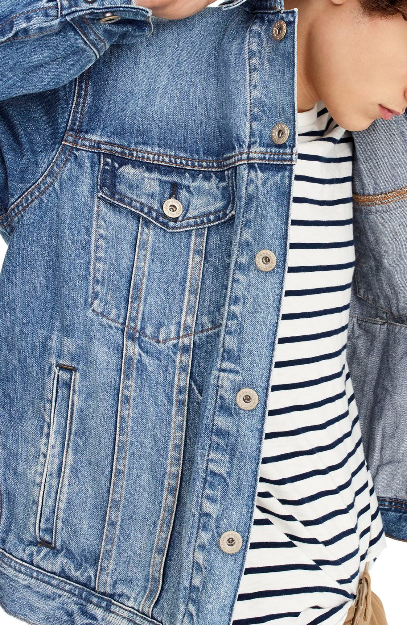 Denim Jacket,                             Alternate thumbnail 3, color,                             Norwood Wash