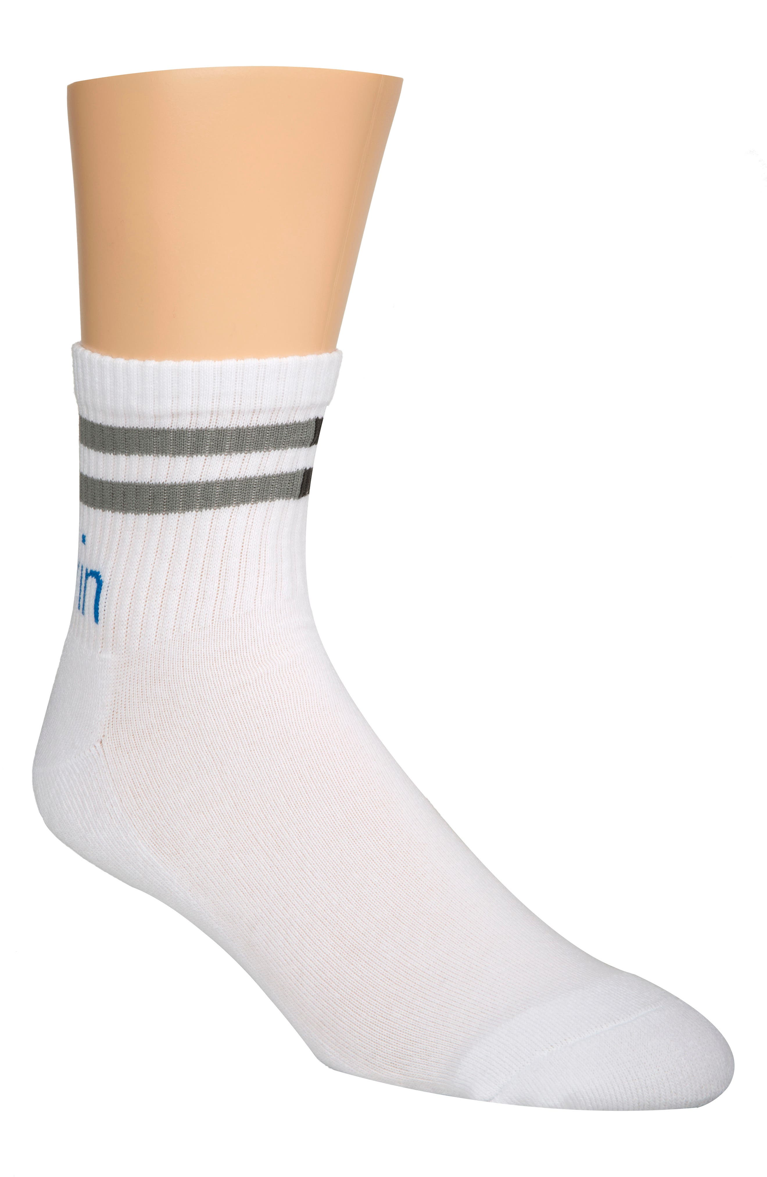 Logo Crew Socks,                             Main thumbnail 1, color,                             White