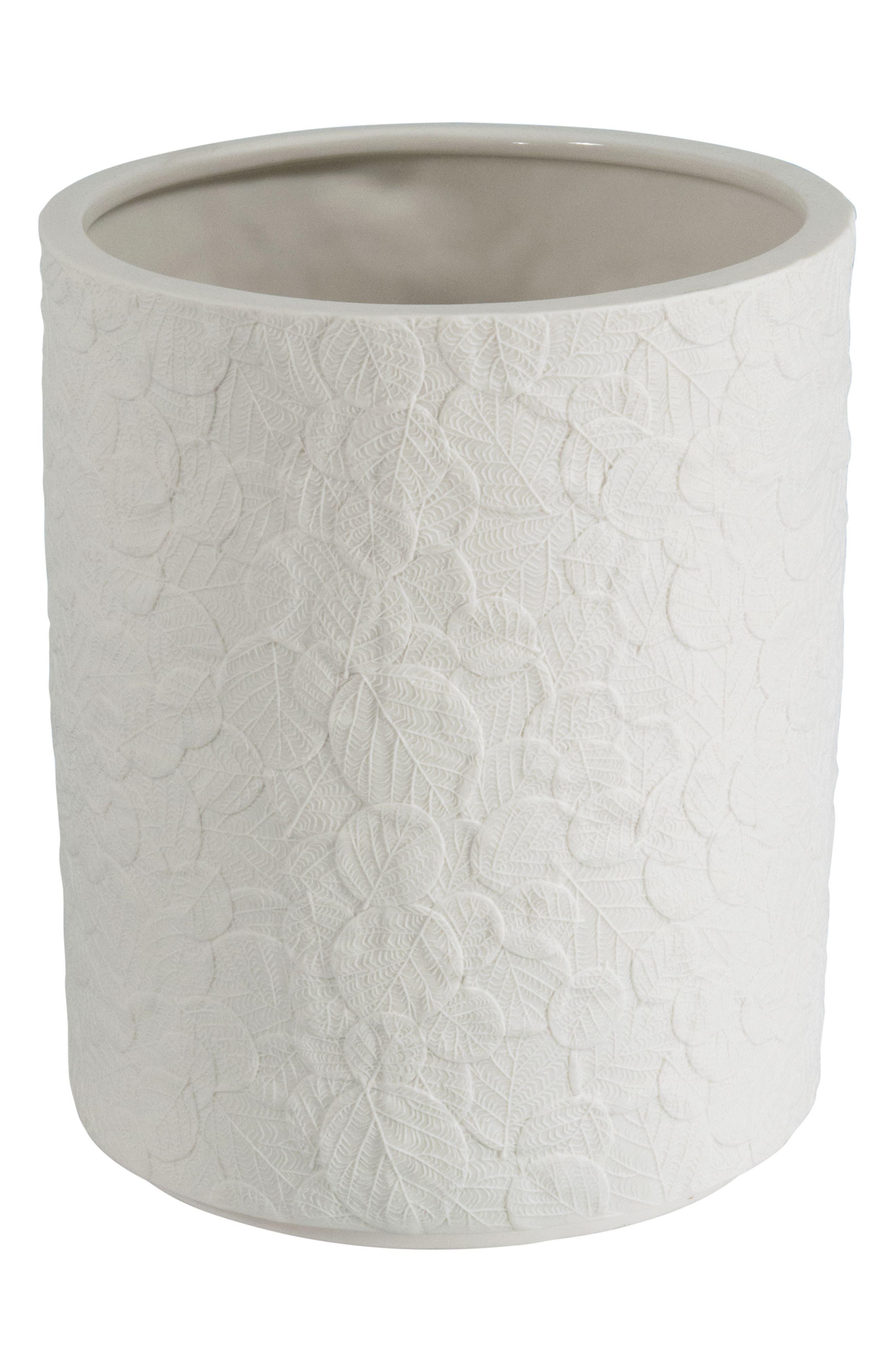 Michael Aram Botanical Leaf Porcelain Wastebasket