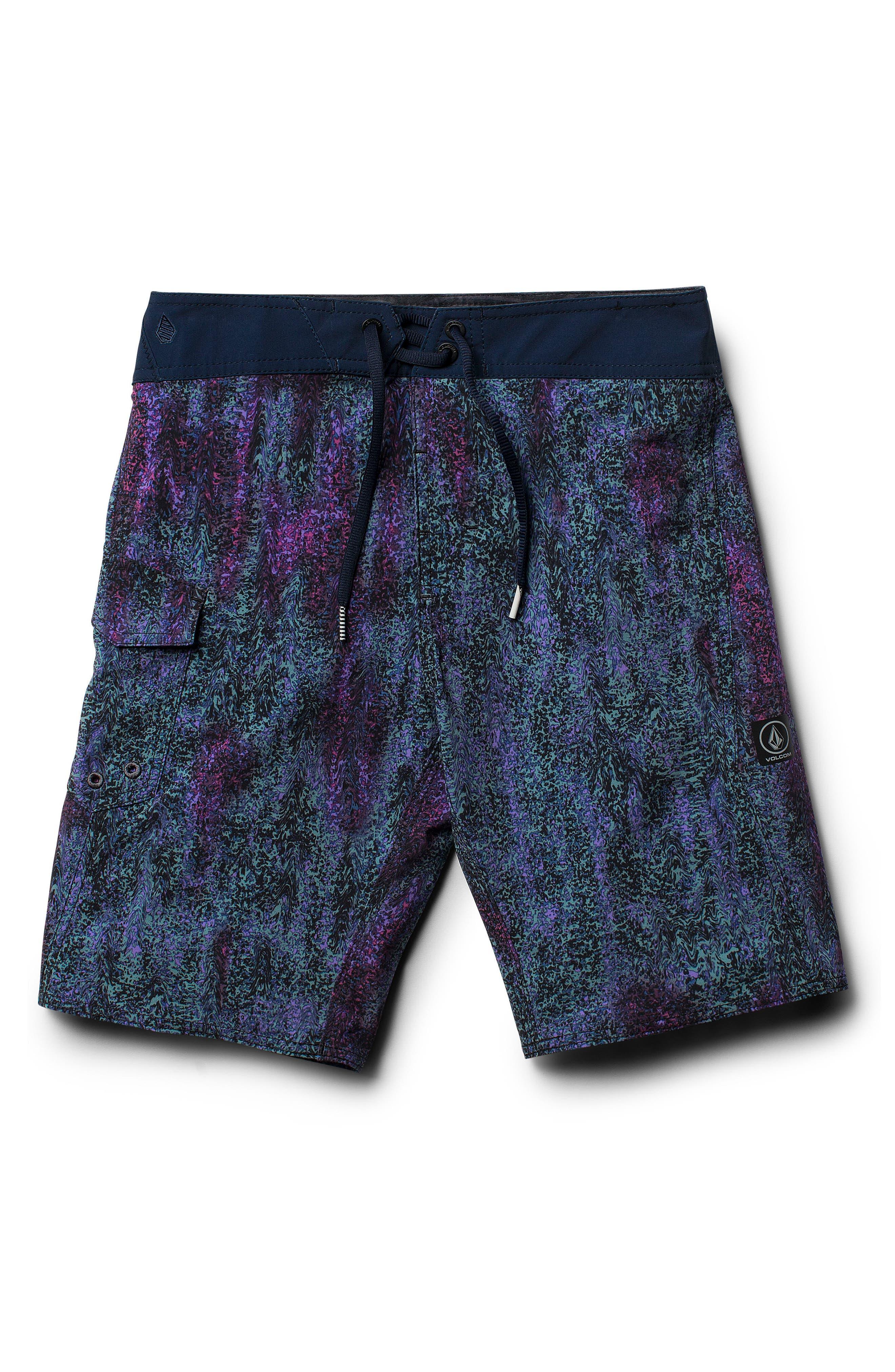 Plasm Mod Board Shorts,                         Main,                         color, Indigo