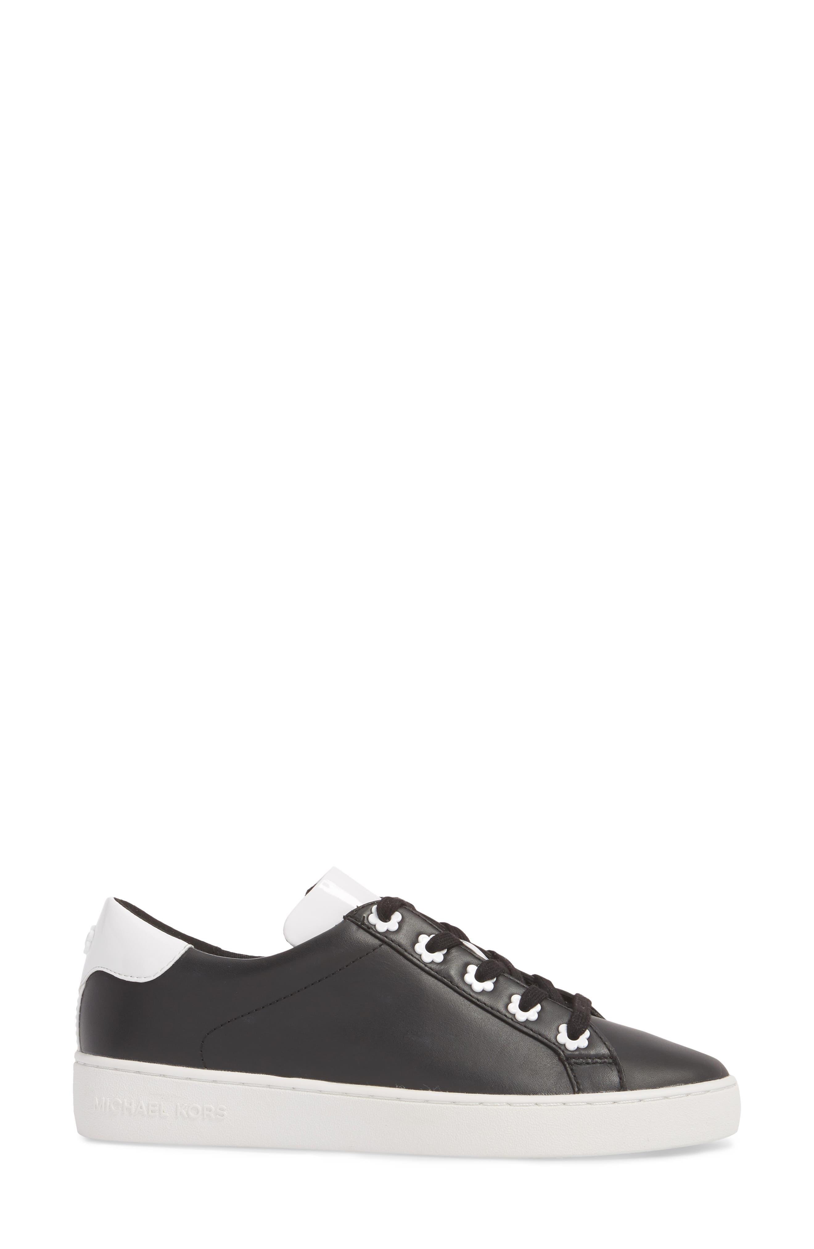 Irving Sneaker,                             Alternate thumbnail 3, color,                             Black/ Optic White