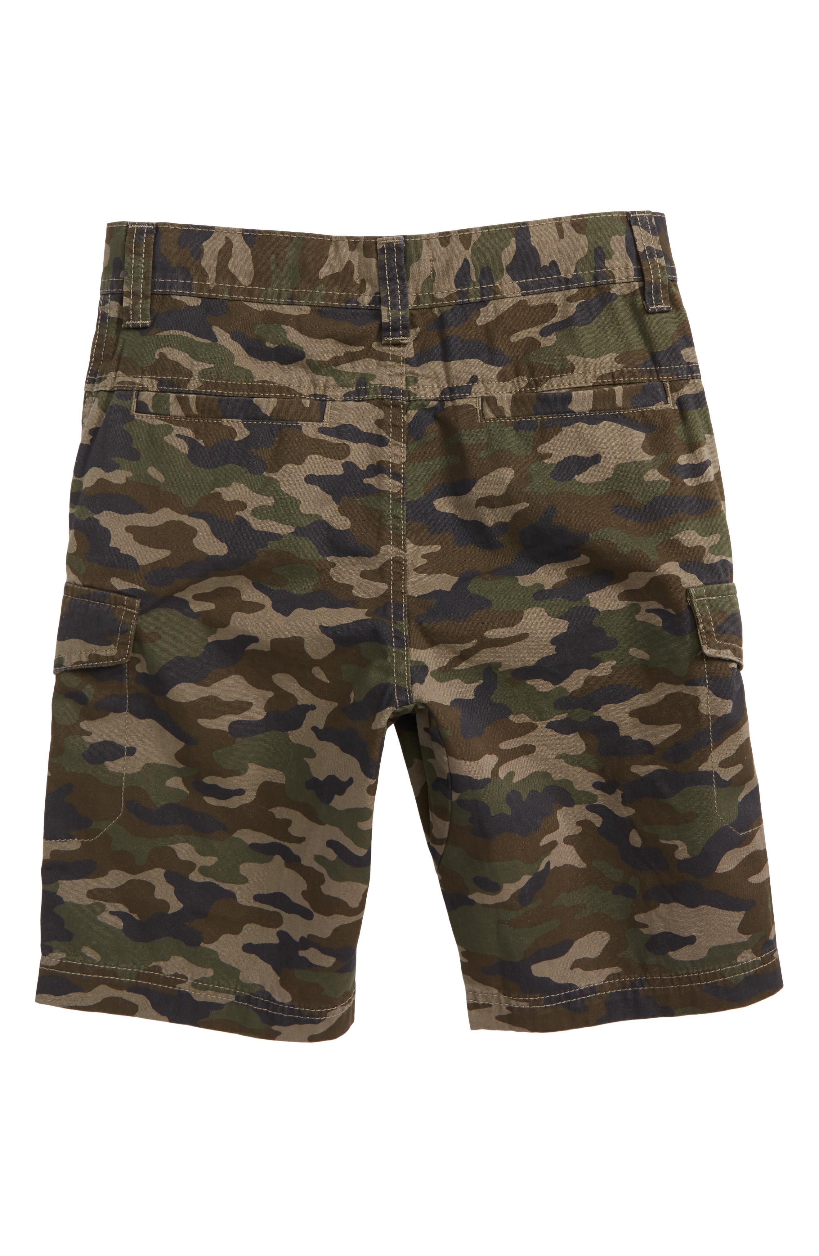 Camo Cargo Shorts,                             Alternate thumbnail 2, color,                             Olive Brown Camo