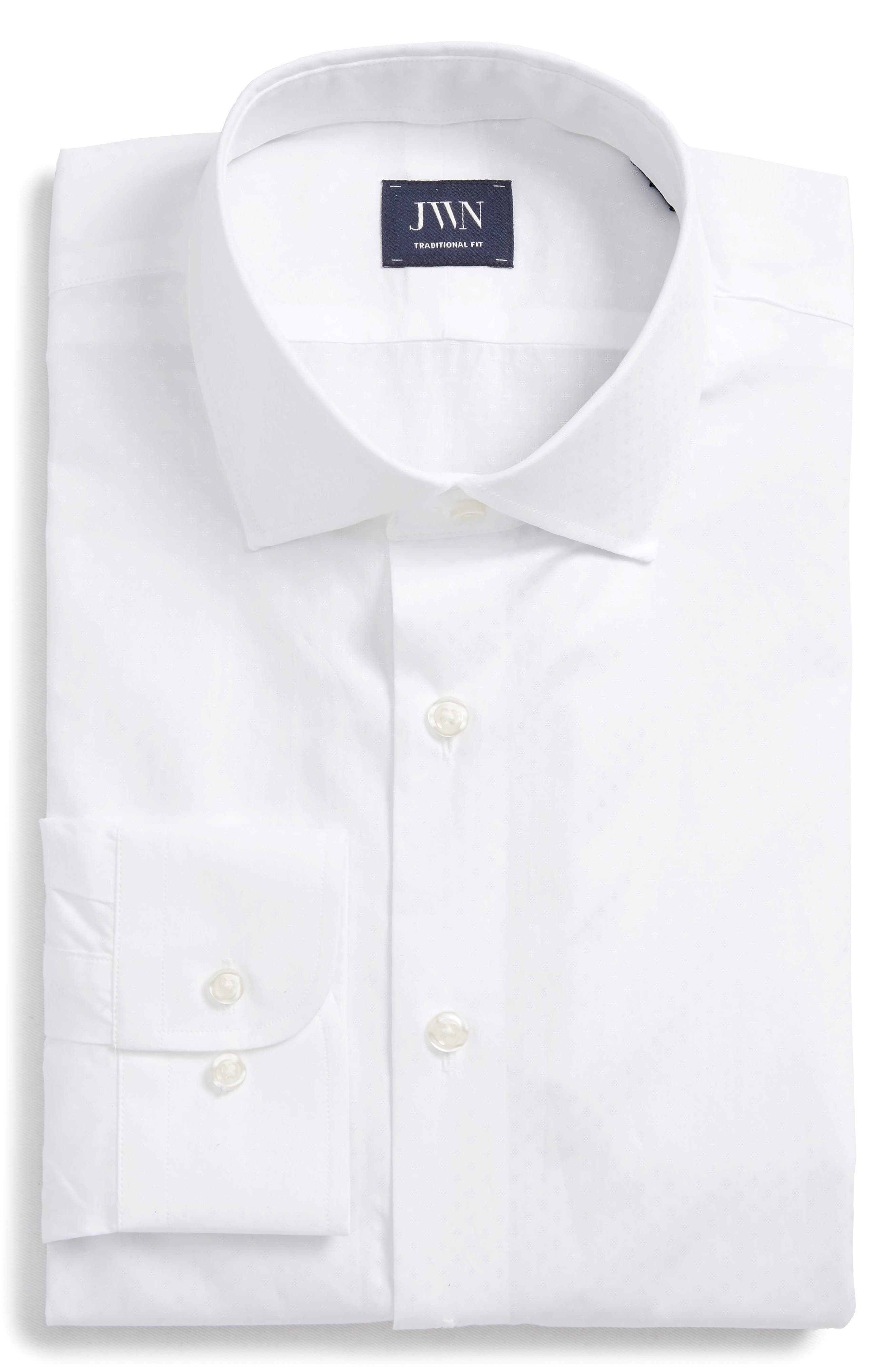 John W. Nordstrom® Traditional Fit Dobby Dot Dress Shirt