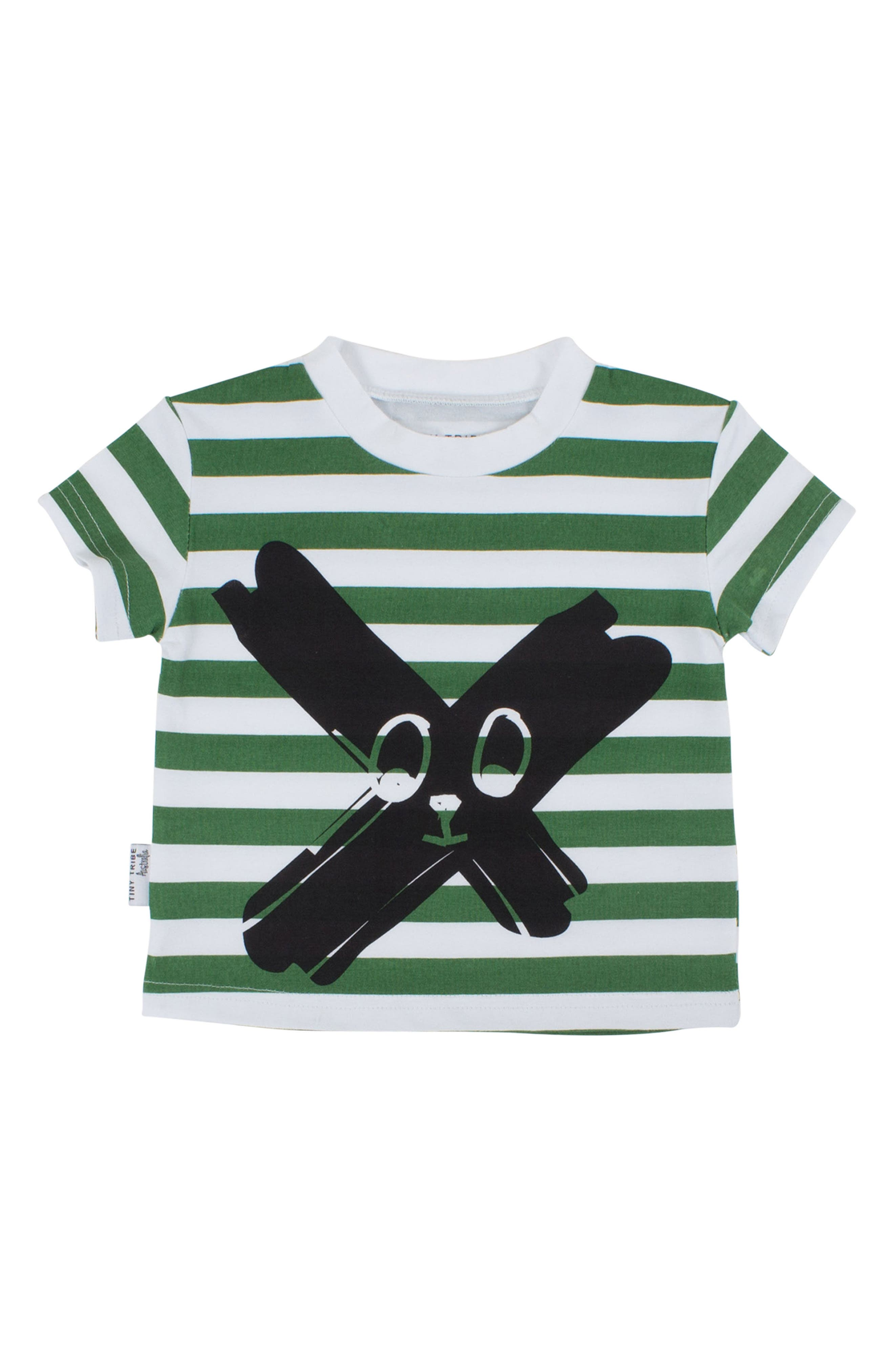 Alternate Image 1 Selected - Tiny Tribe Face Paint Stripe T-Shirt (Toddler Boys & Little Boys)