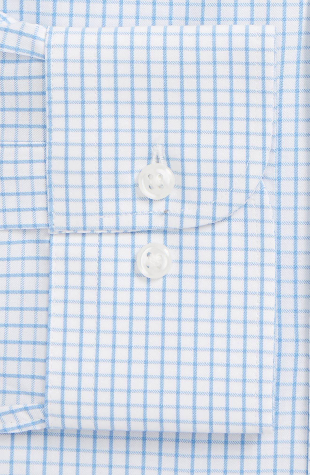 Tech-Smart Traditional Fit Stretch Tattersall Dress Shirt,                             Alternate thumbnail 2, color,                             Blue Lake