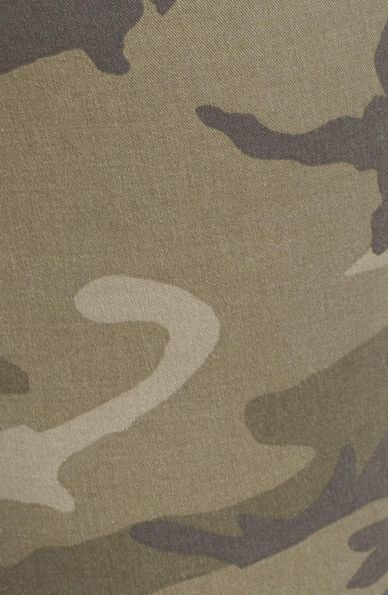 Camo Denim Pants,                             Alternate thumbnail 5, color,                             Olive Green