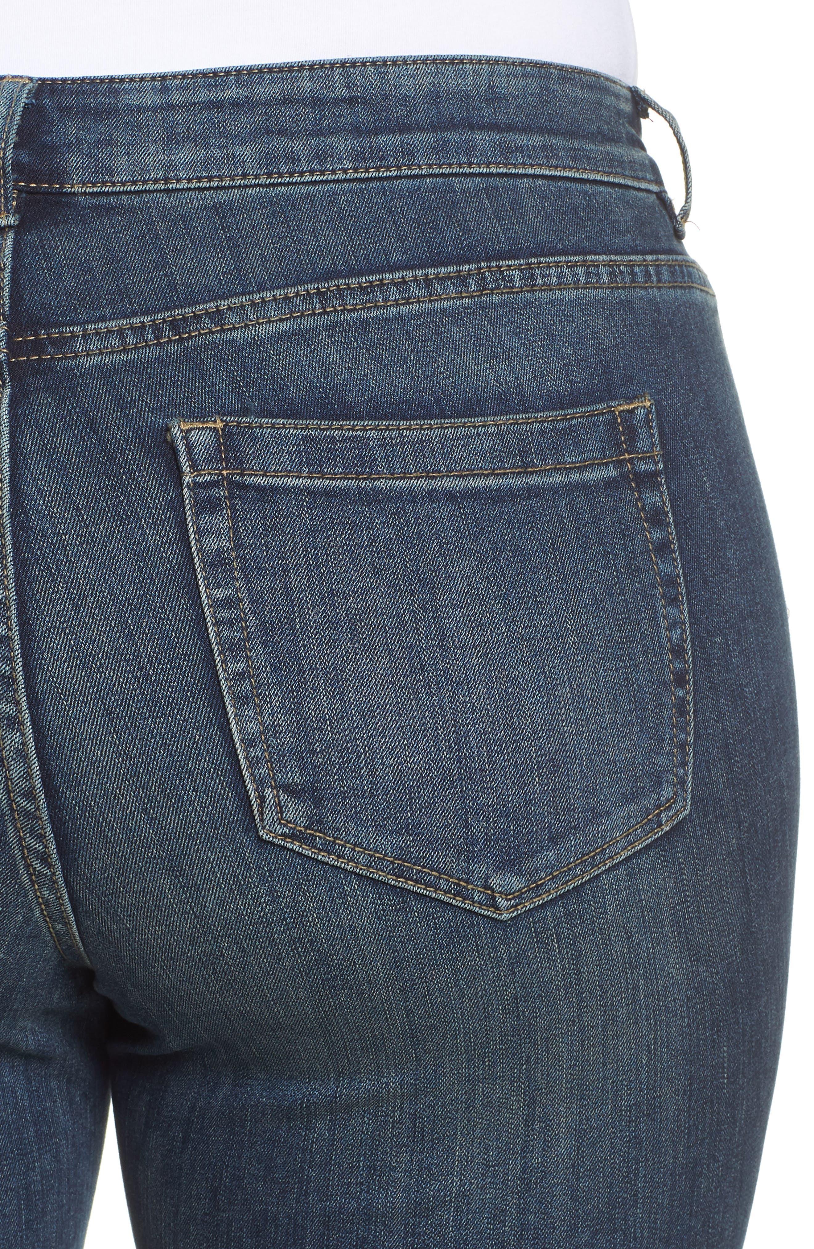 Release Hem Ankle Jeans,                             Alternate thumbnail 4, color,                             Mid Vintage