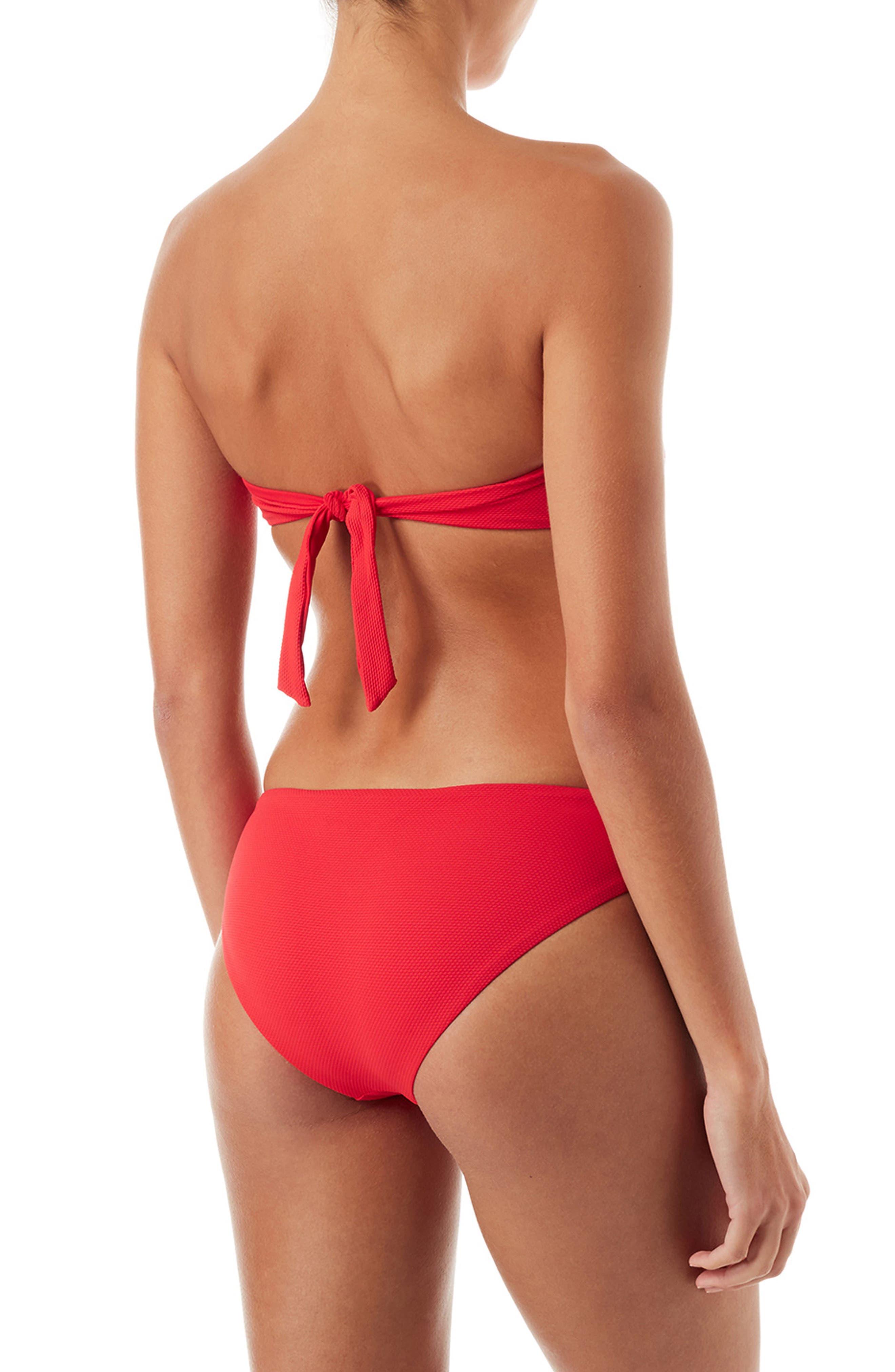 Angola Bandeau Bikini Top,                             Alternate thumbnail 4, color,                             Pique Red