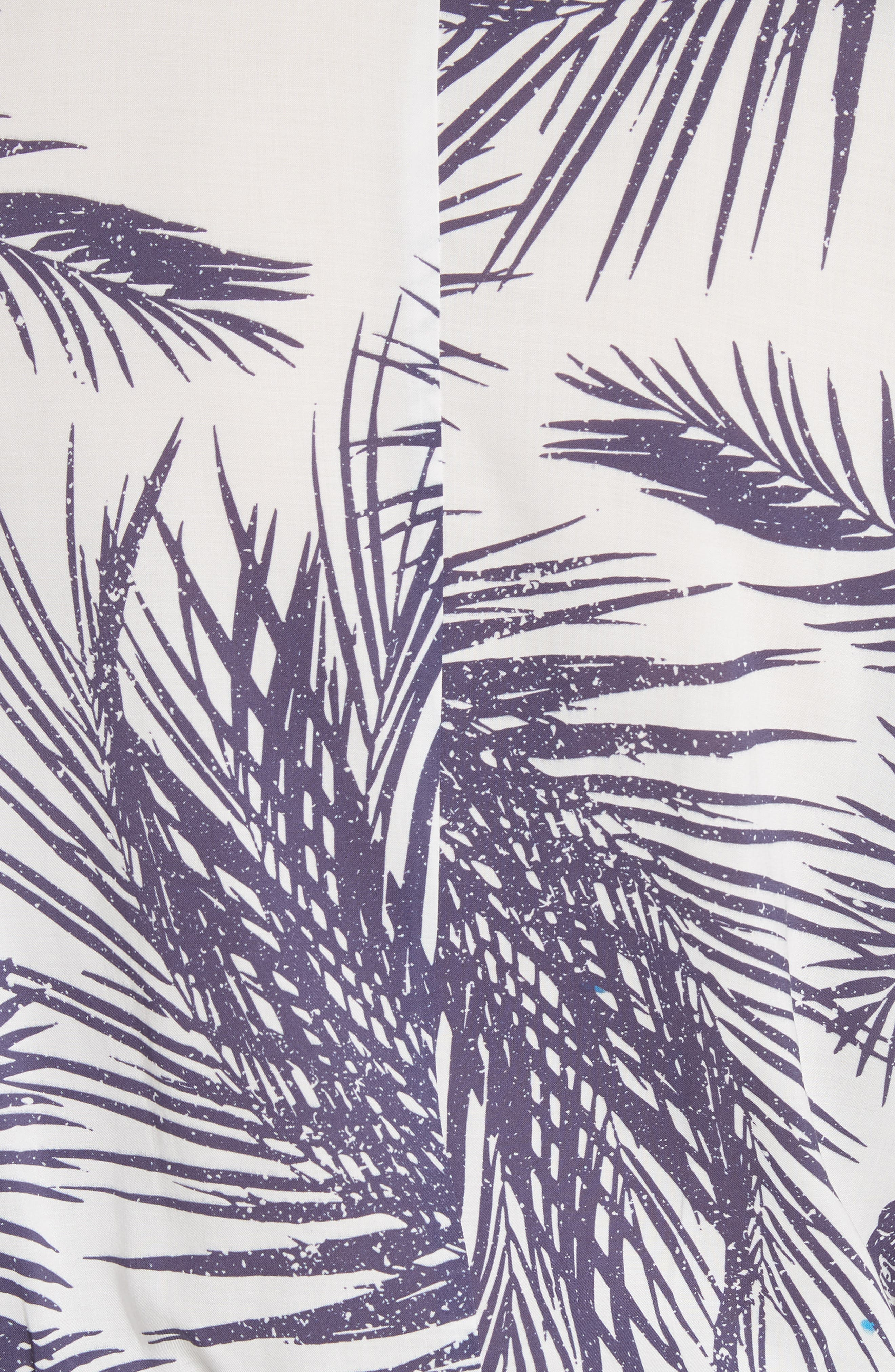 Apres Beach Print Jumpsuit,                             Alternate thumbnail 5, color,                             White/ Dark Purple