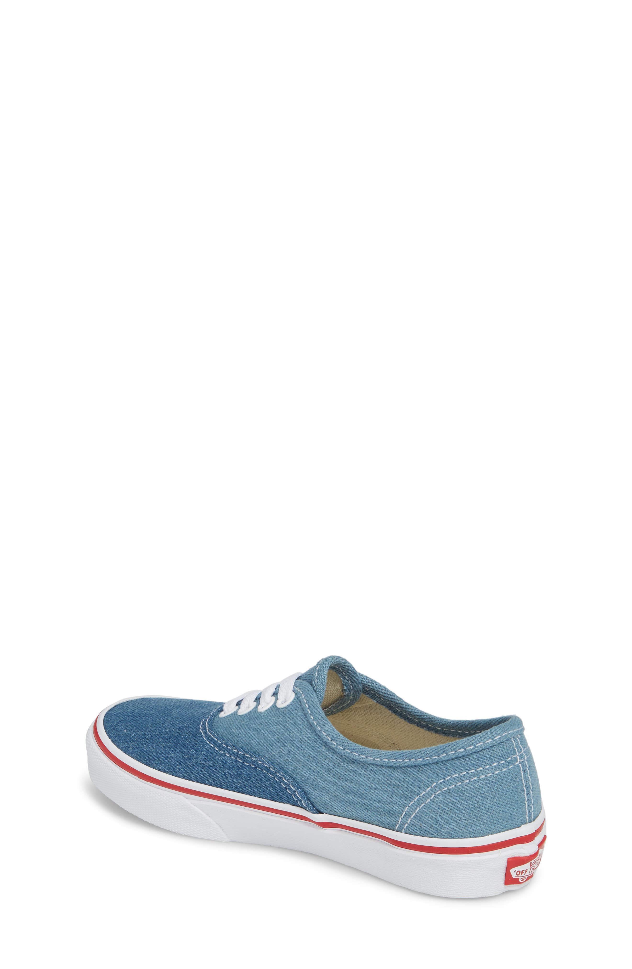 Authentic Sneaker,                             Alternate thumbnail 2, color,                             Blue/ White Denim Two-Tone