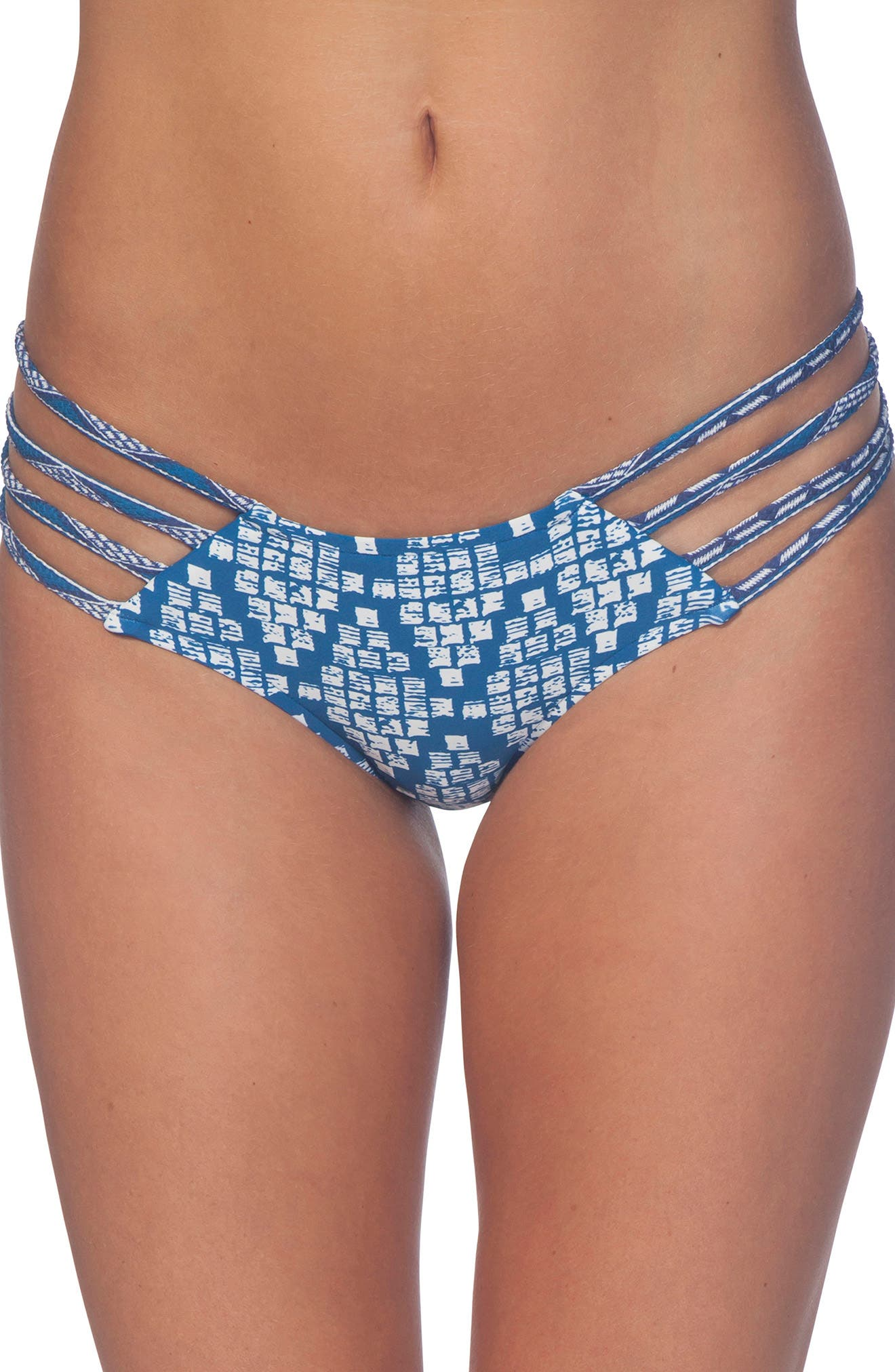 South Winds Luxe Hipster Bikini Bottoms,                         Main,                         color, Blue