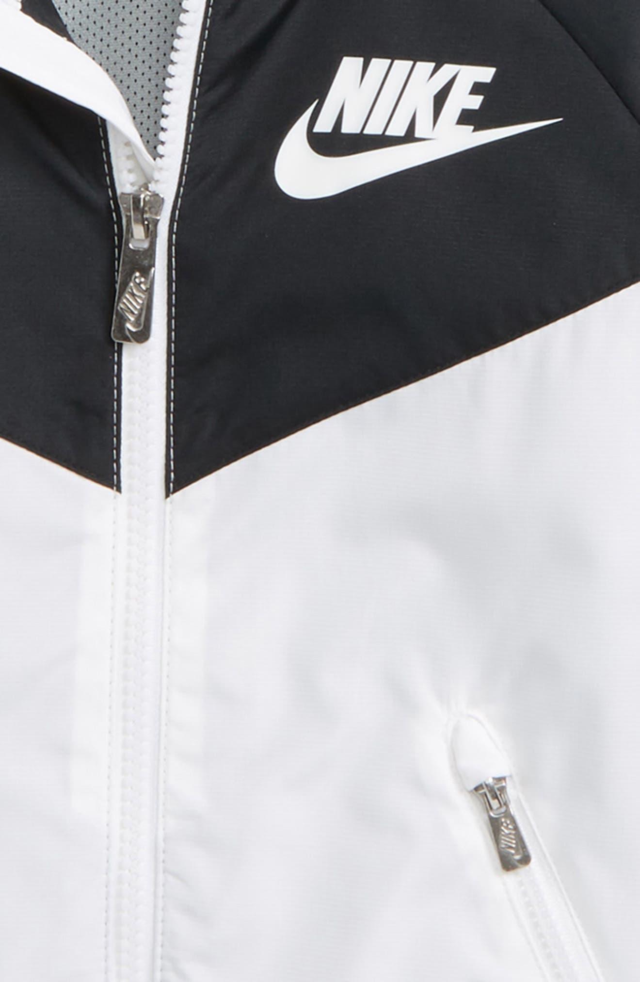 Windrunner Water Resistant Hooded Jacket,                             Alternate thumbnail 2, color,                             White