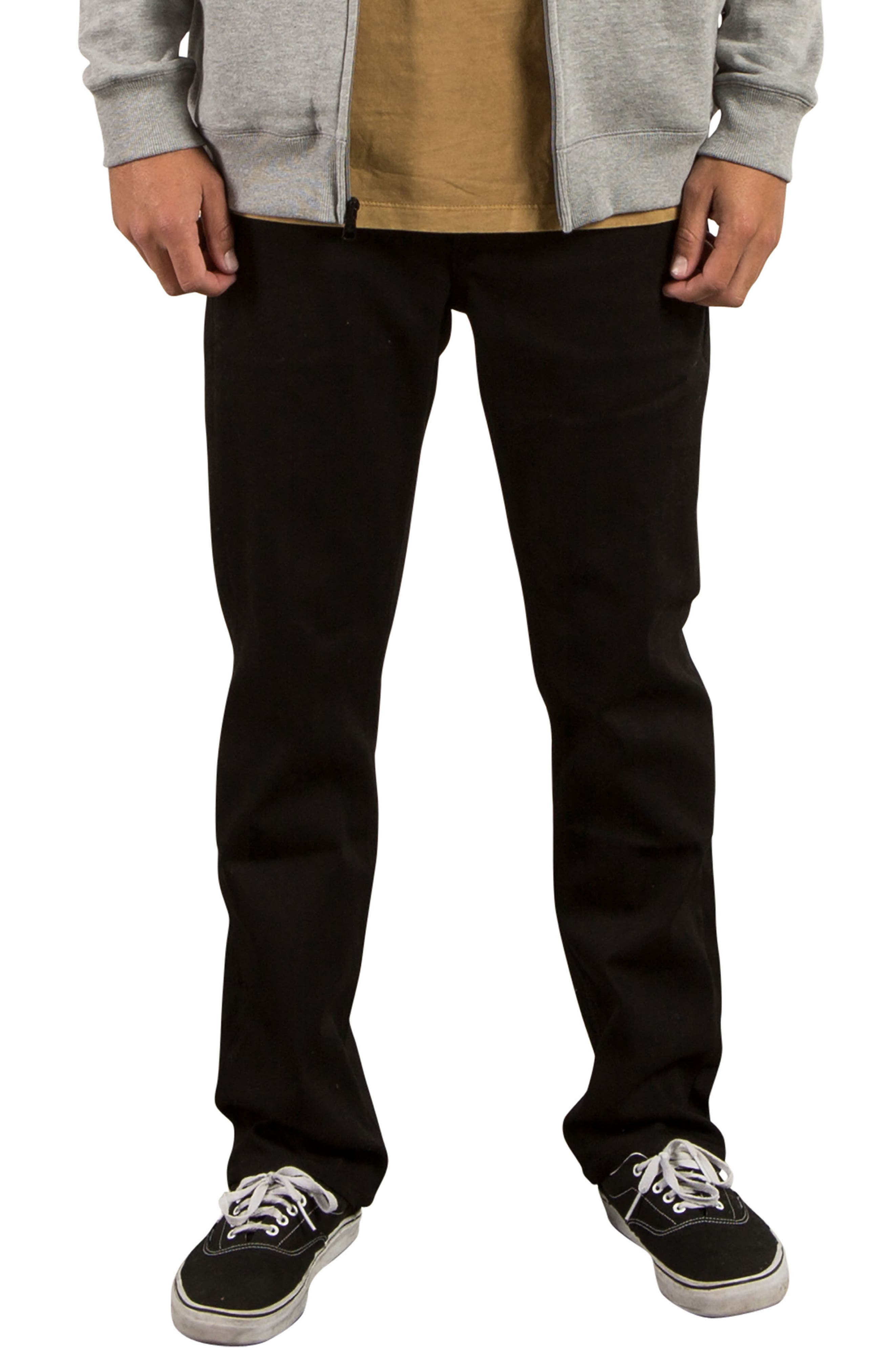 'Solver' Straight Leg Jeans,                         Main,                         color, Black Black