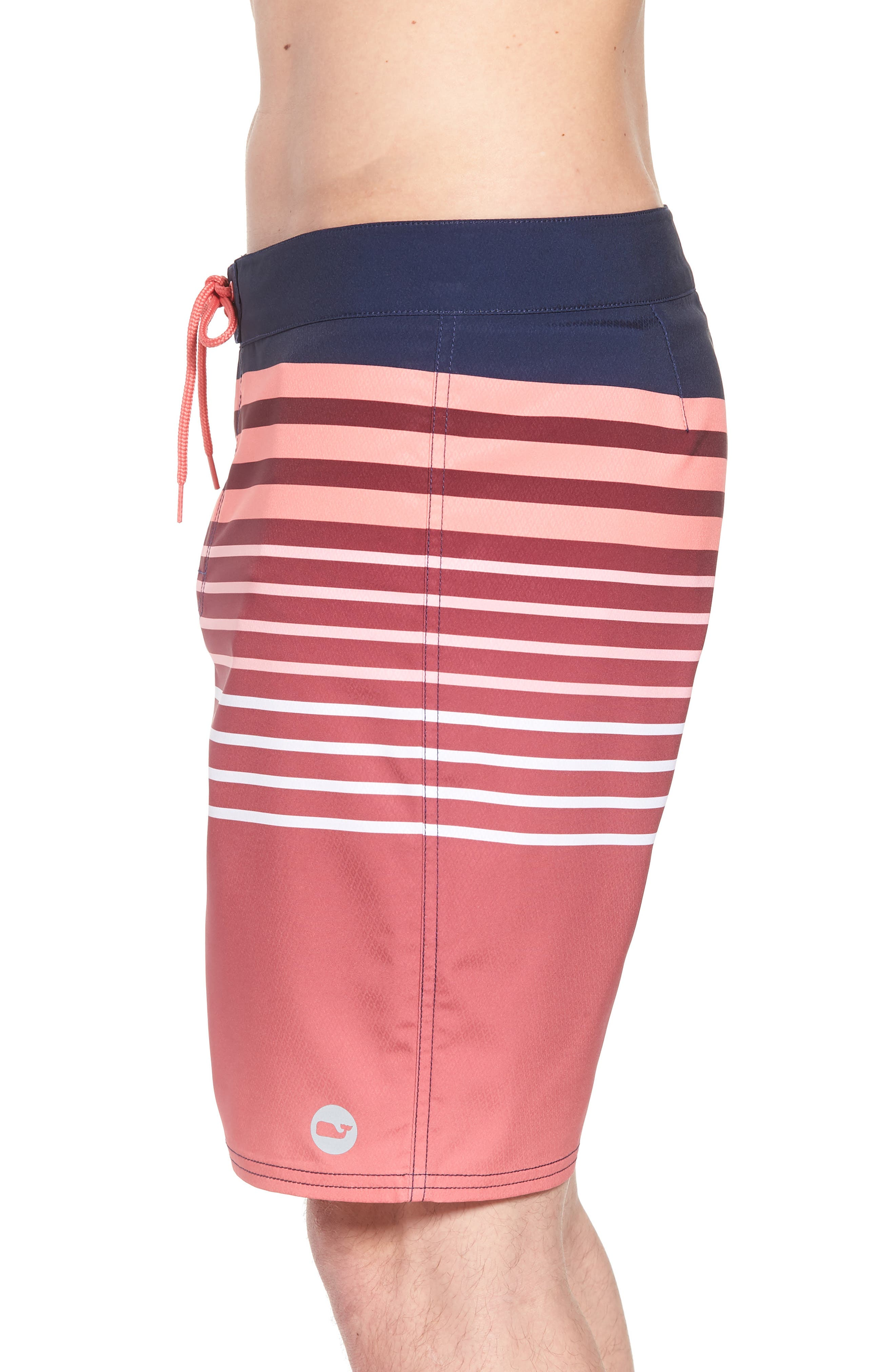 Surflodge Stripe Board Shorts,                             Alternate thumbnail 3, color,                             Jetty Red