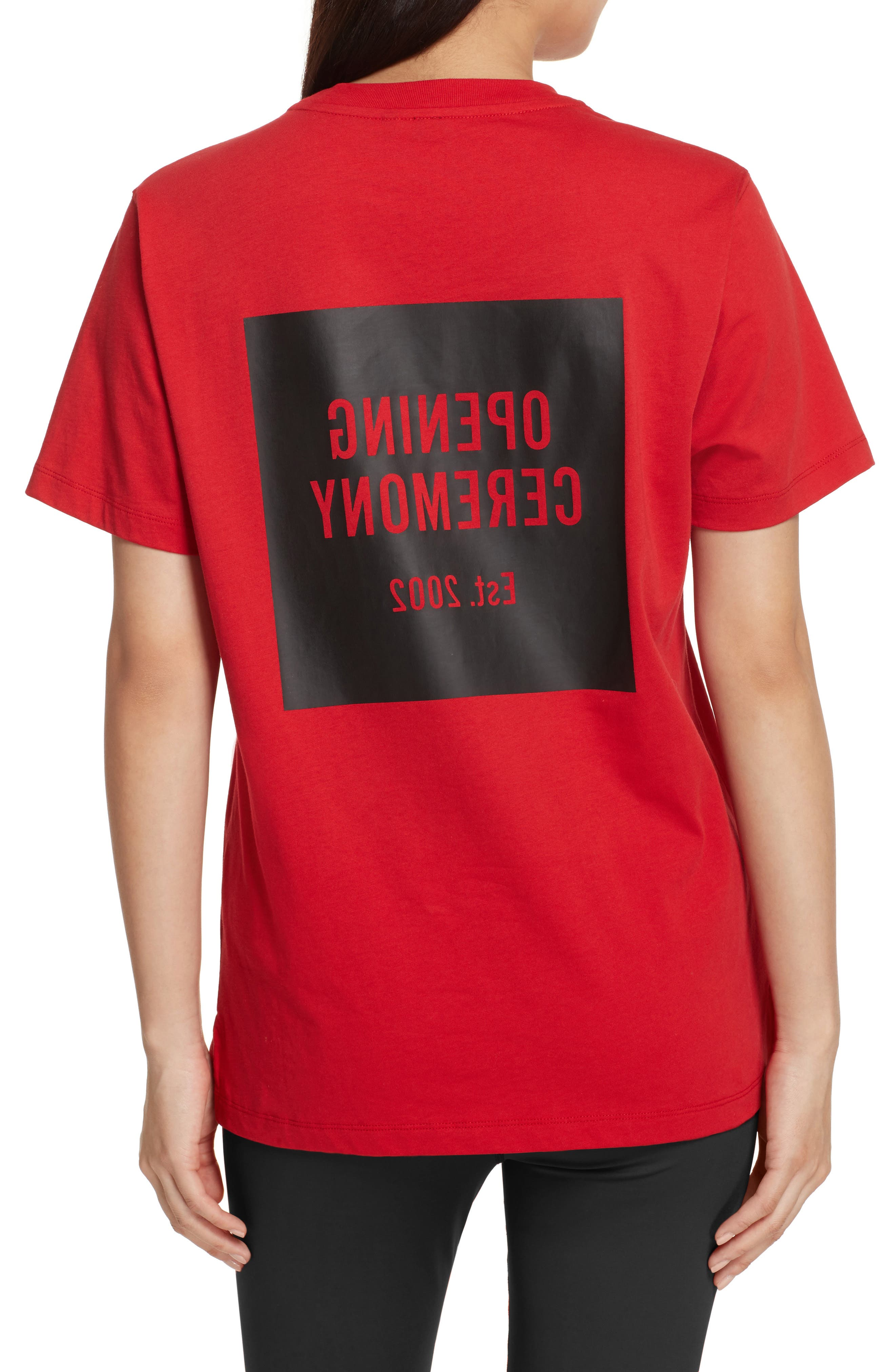 Logo Tee,                             Alternate thumbnail 2, color,                             Torch Red