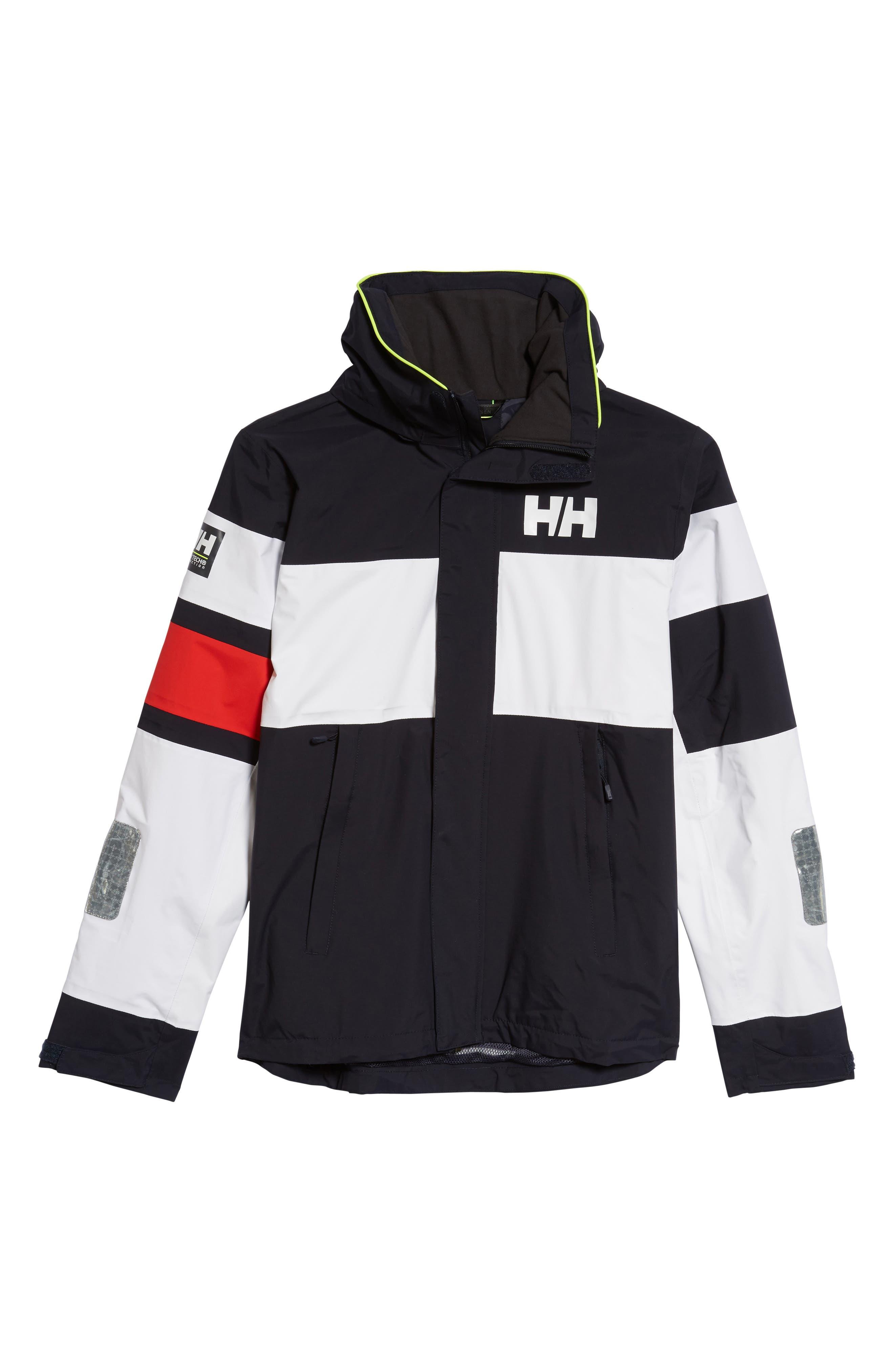 Salt Light Hooded Jacket,                             Alternate thumbnail 6, color,                             Navy