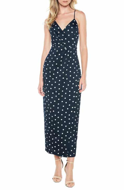 Bardot Spotty Faux Wrap Dress