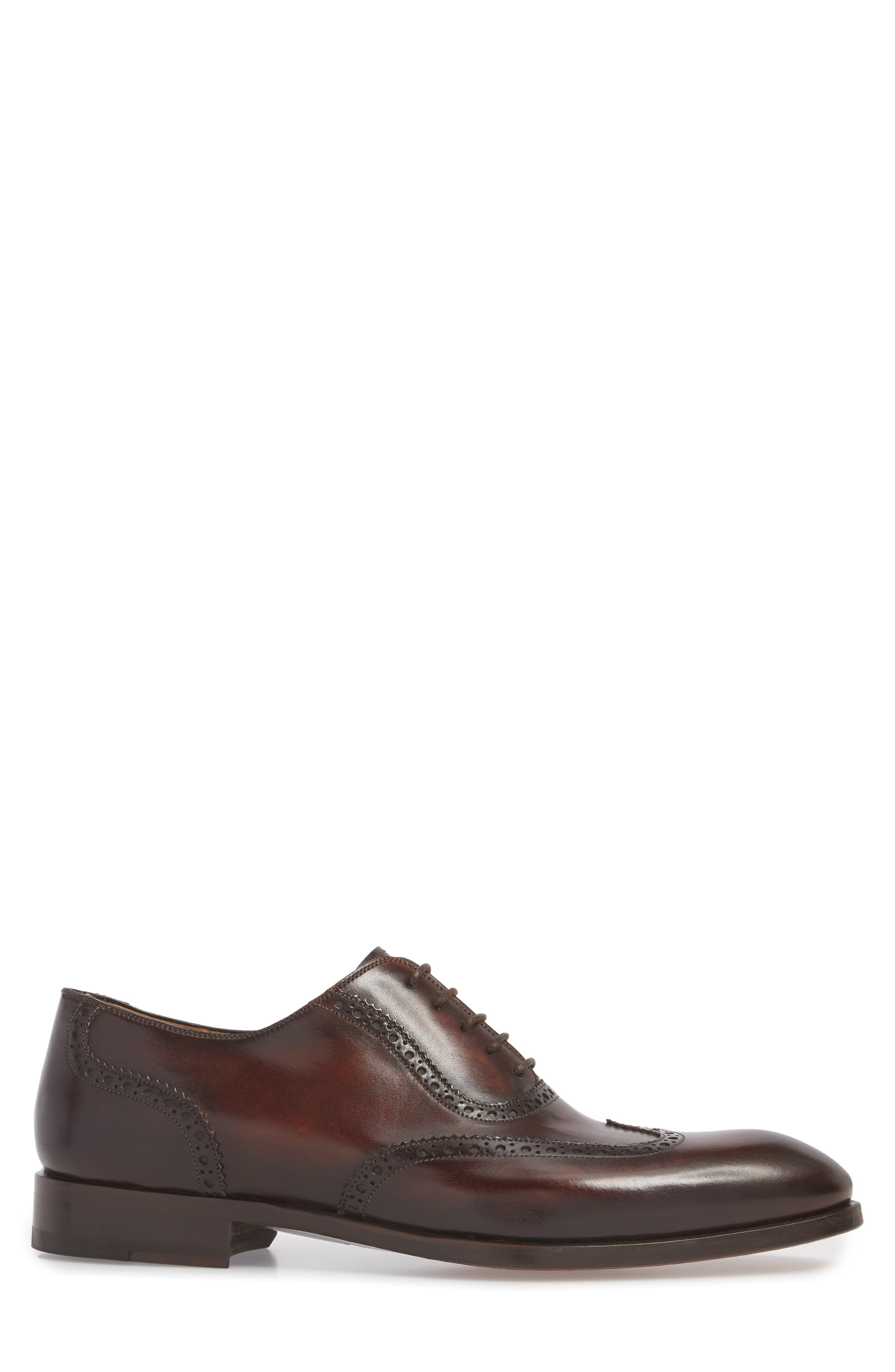 Dana Wingtip Oxford,                             Alternate thumbnail 3, color,                             Mid-Brown Leather