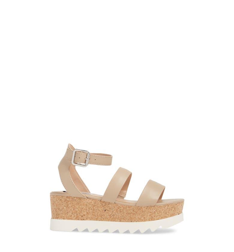 57a109486ee Shop Steve Madden Kirsten Layered Platform Sandal In Natural Leather