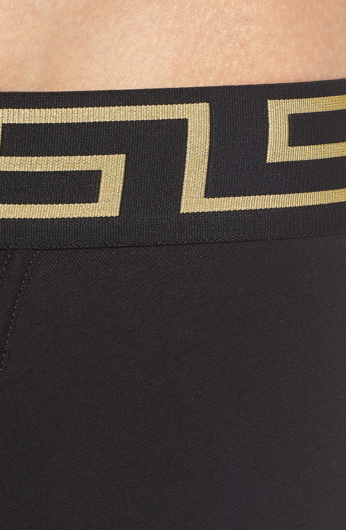 Versace Collection 2-Pack Low Rise Trunks,                             Alternate thumbnail 5, color,                             Black/ Gold