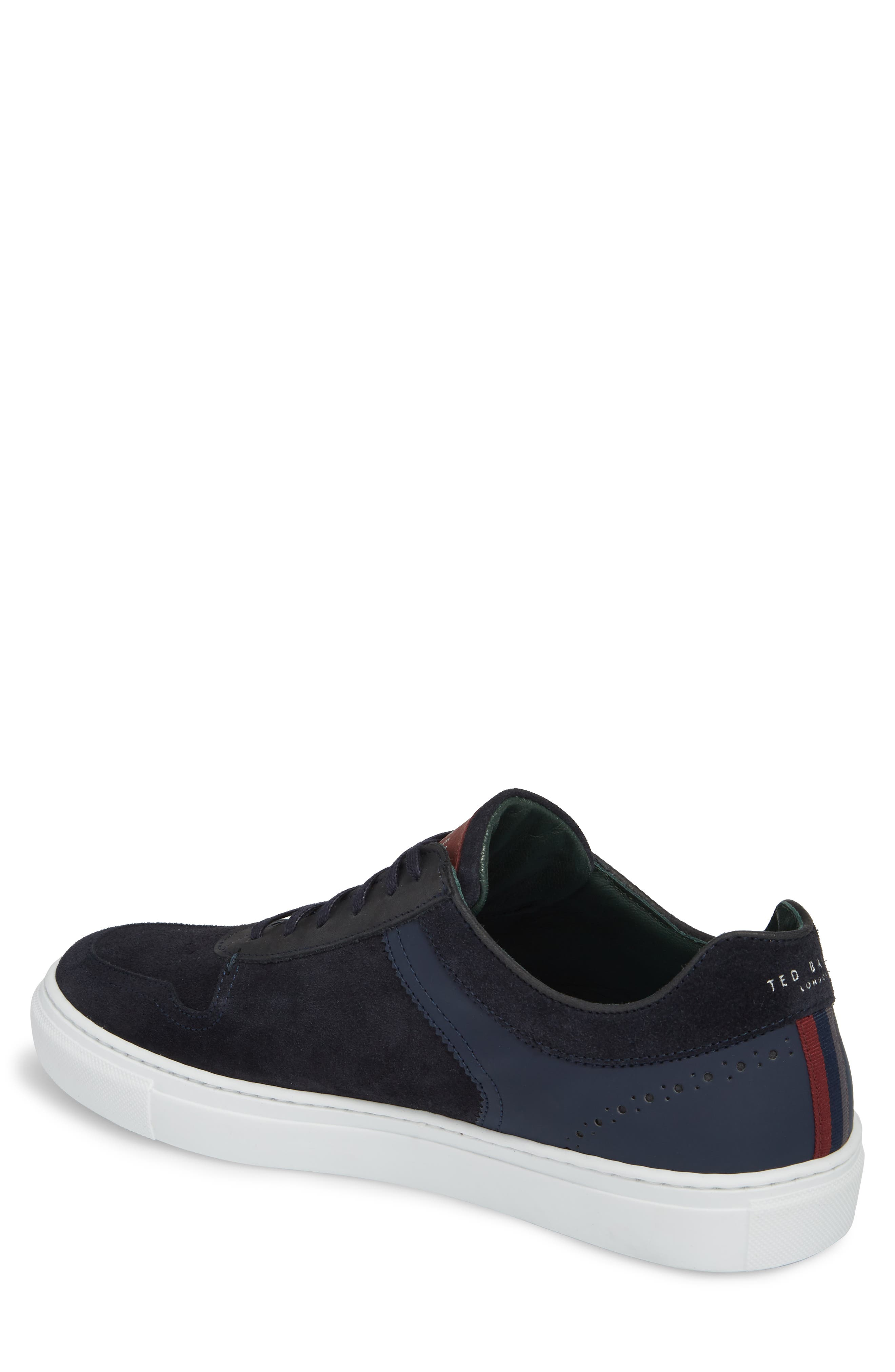 Burall Sneaker,                             Alternate thumbnail 2, color,                             Dark Blue Suede/ Textile