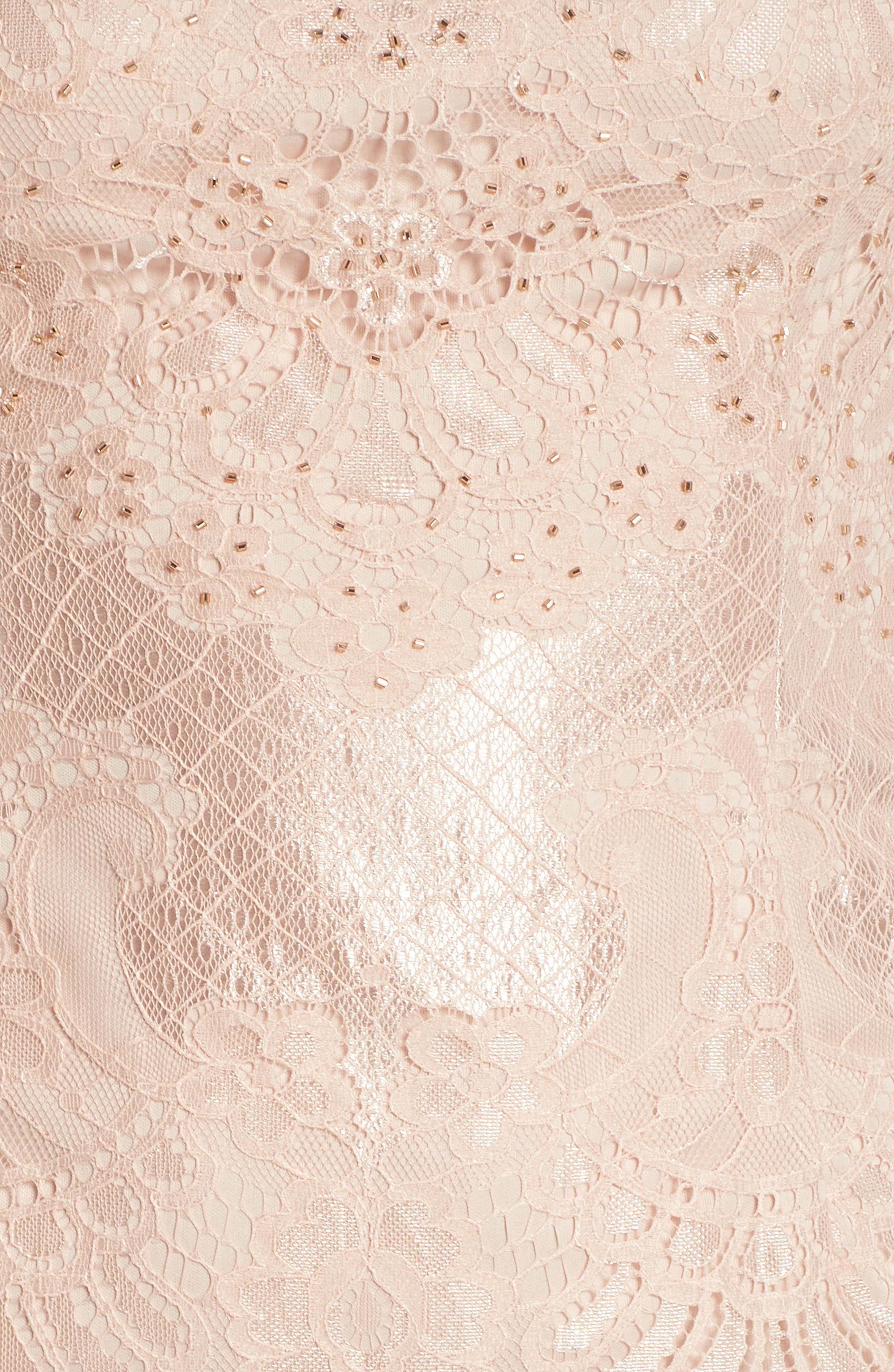 Lace Sheath Dress,                             Alternate thumbnail 5, color,                             Blush