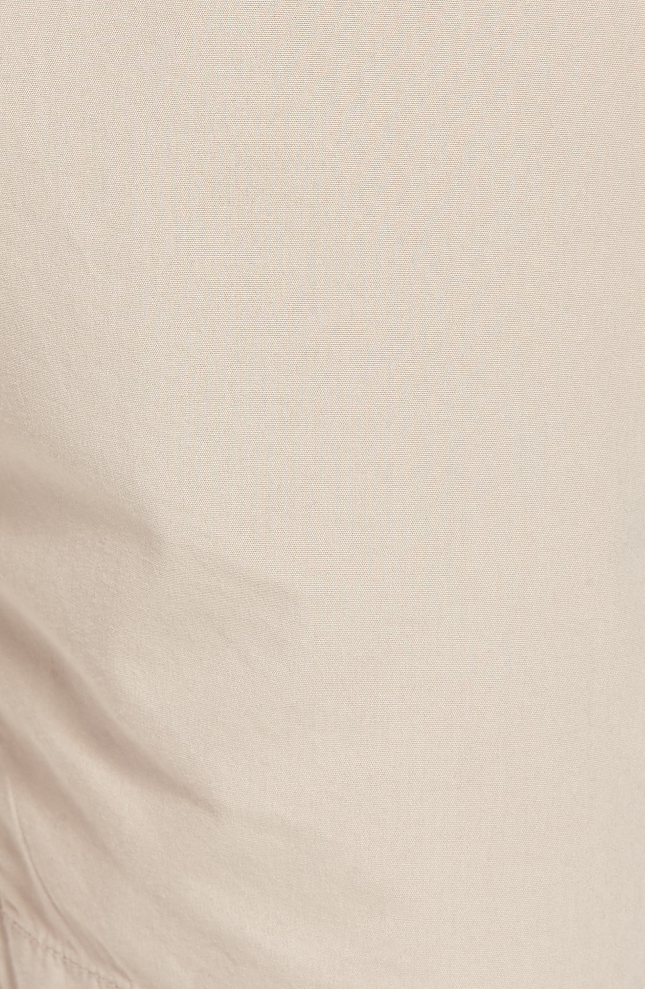 Stretch Poplin Shorts,                             Alternate thumbnail 5, color,                             Tan Thread