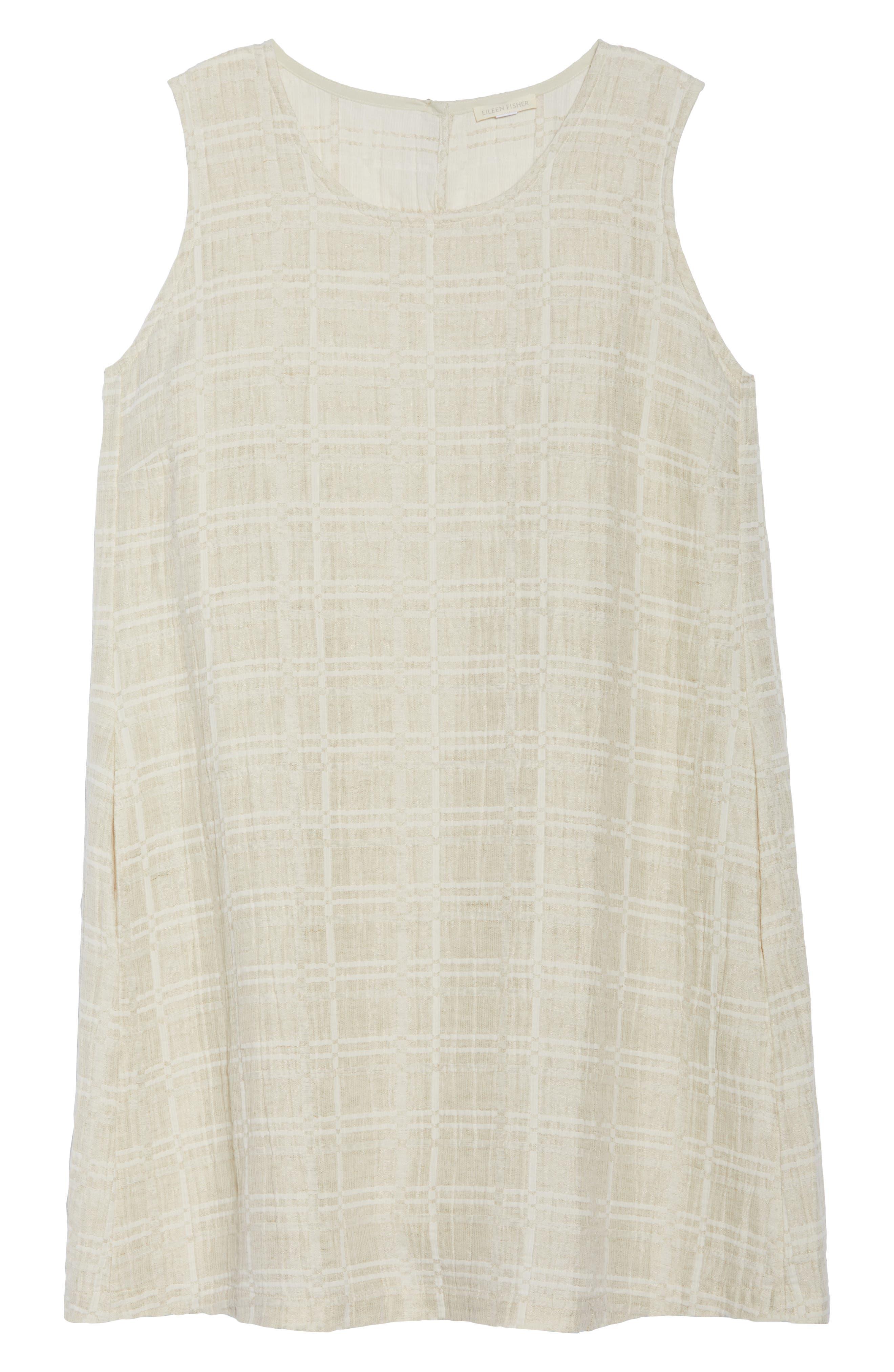Organic Cotton & Linen Shift Dress,                             Alternate thumbnail 7, color,                             Natural