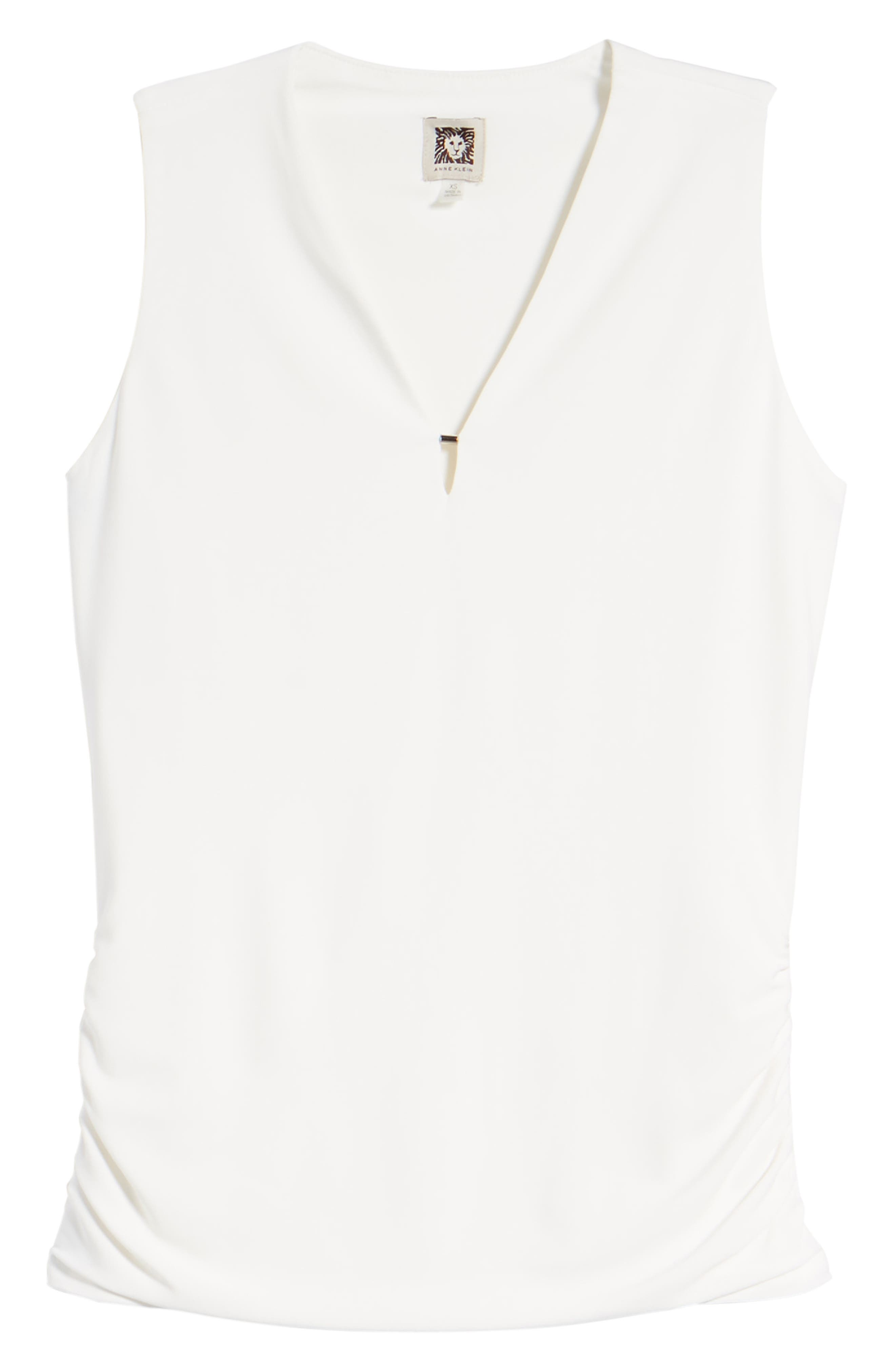 Side Ruched Top,                             Alternate thumbnail 7, color,                             White
