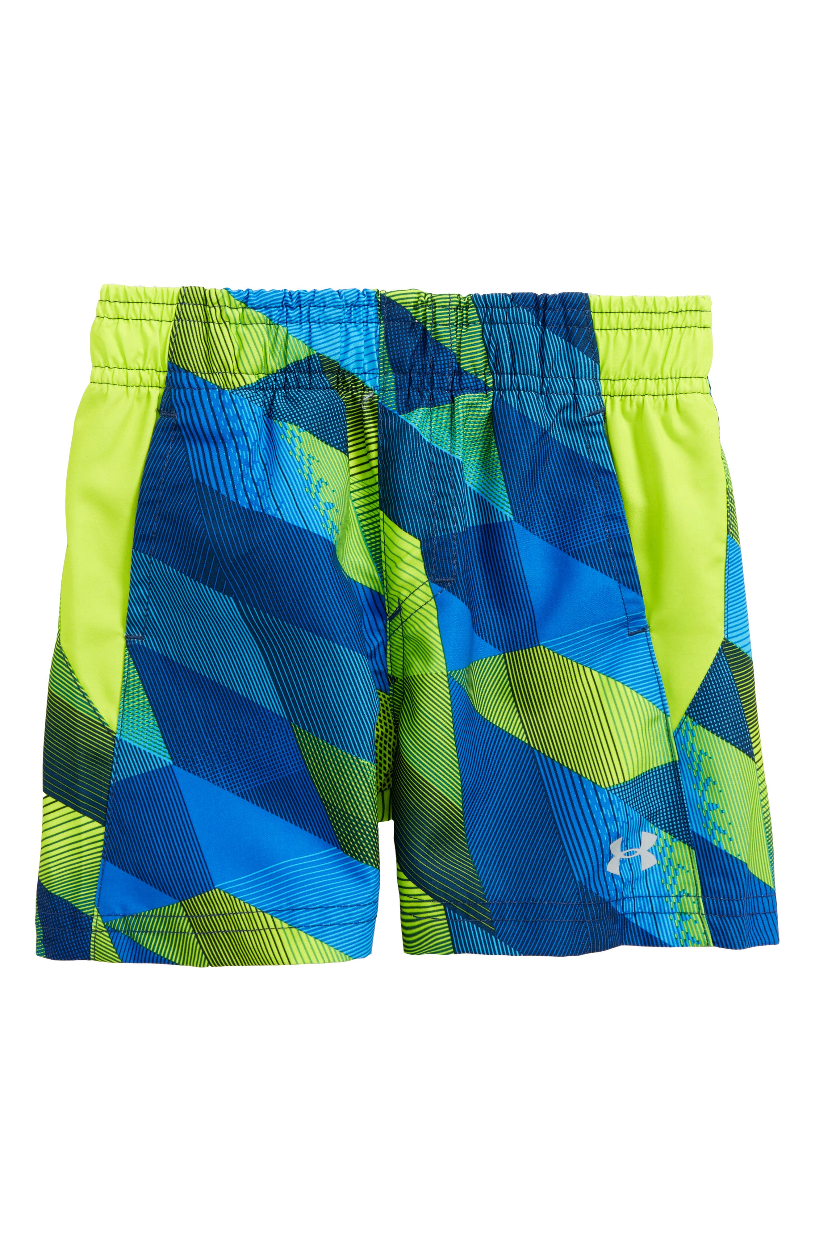 Electric Field Volley Swim Trunks,                             Main thumbnail 1, color,                             Blue/ Yellow