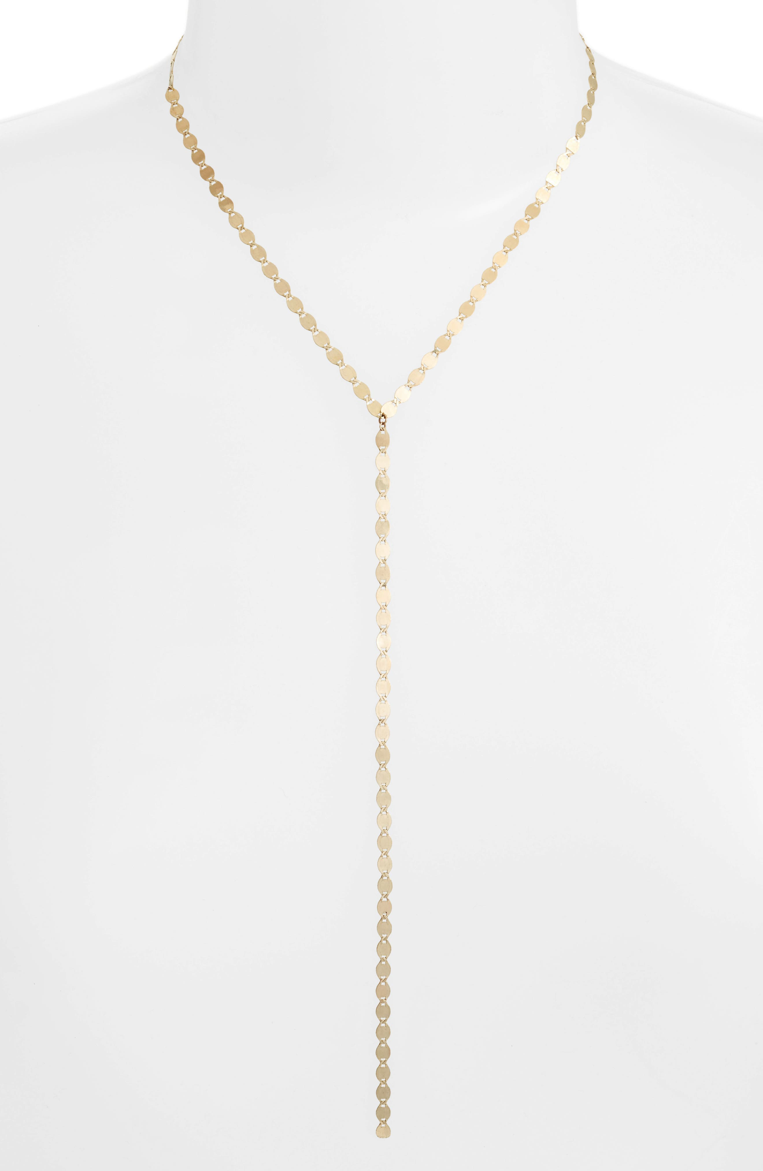 Y-Necklace,                         Main,                         color, Yellow Gold