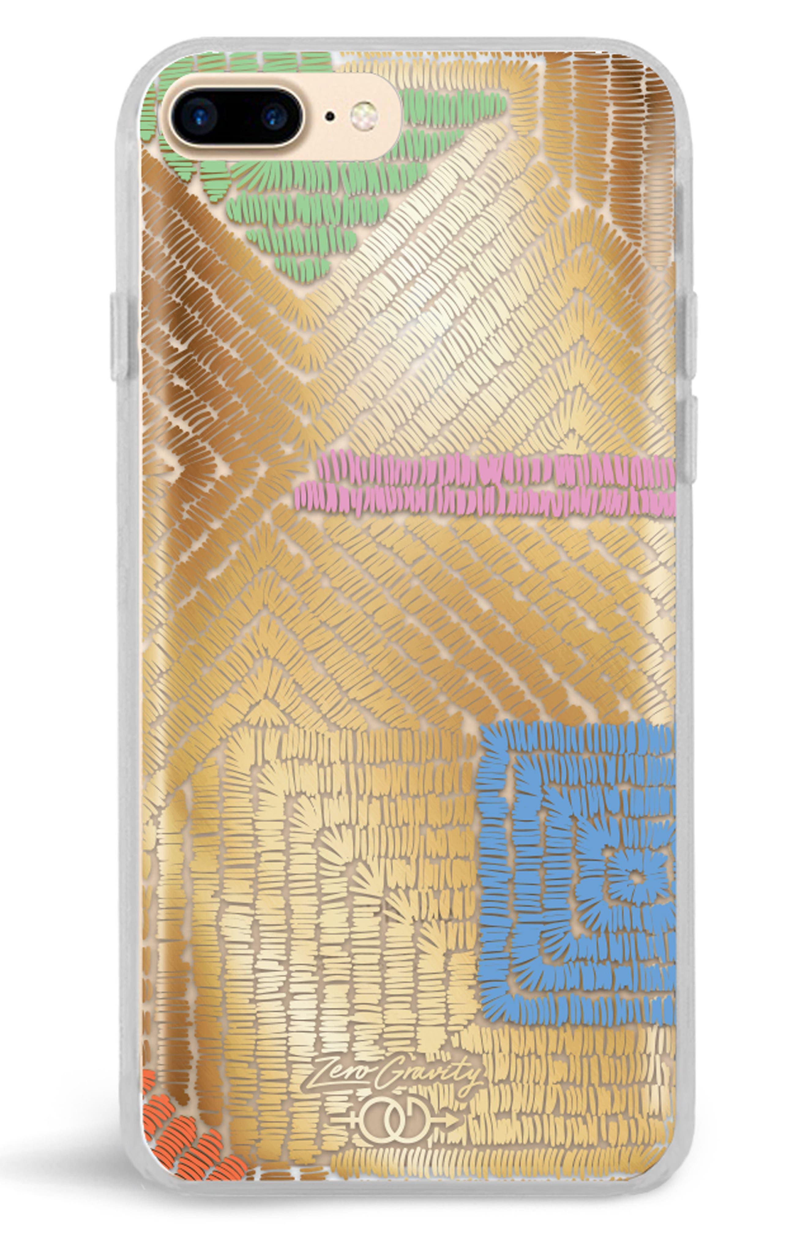 Maze iPhone 7/8 & 7/8 Plus Case,                             Main thumbnail 1, color,                             Gold Multi