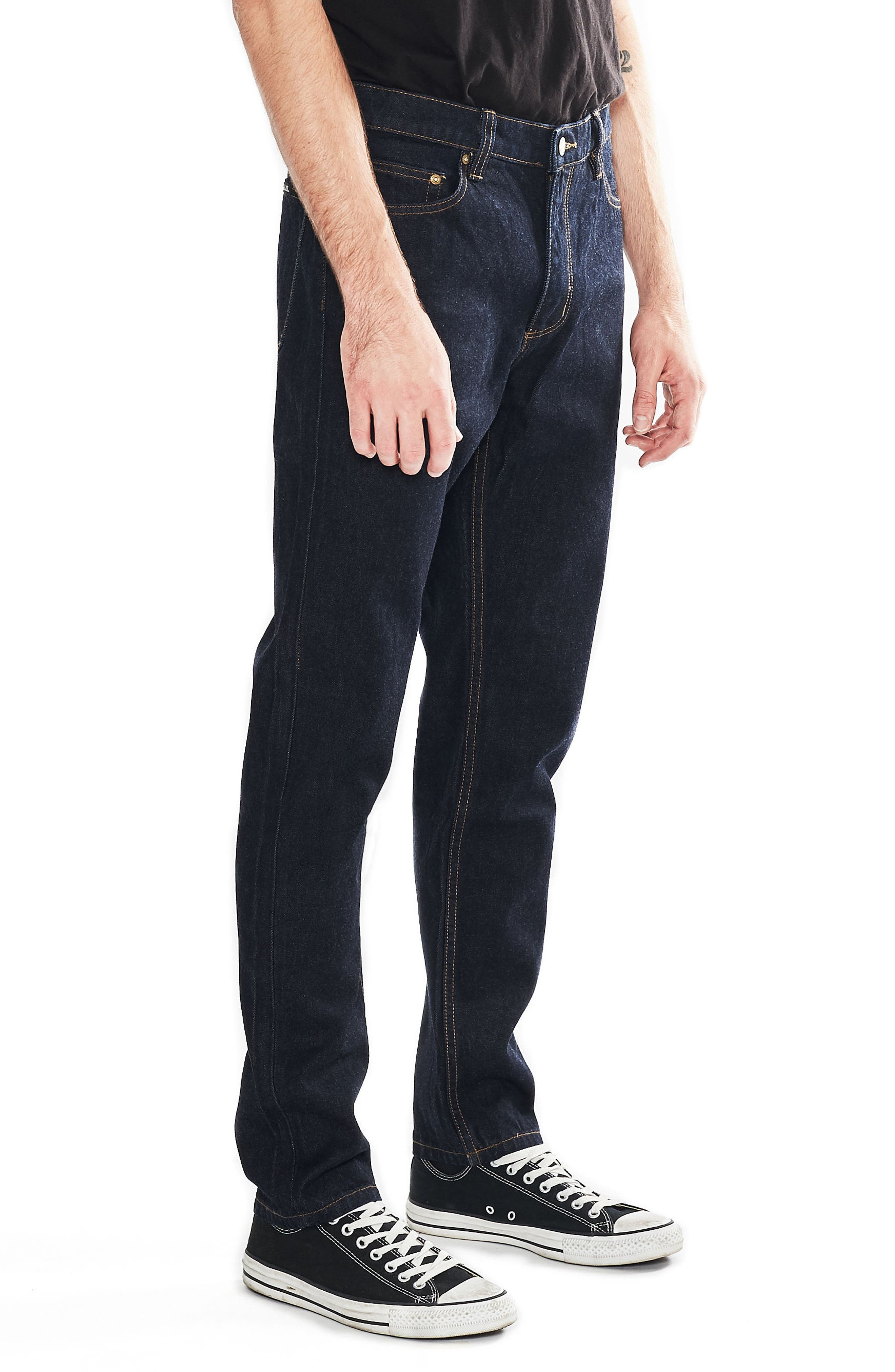 Tim Slims Slim Fit Jeans,                             Alternate thumbnail 3, color,                             Indigo Raw
