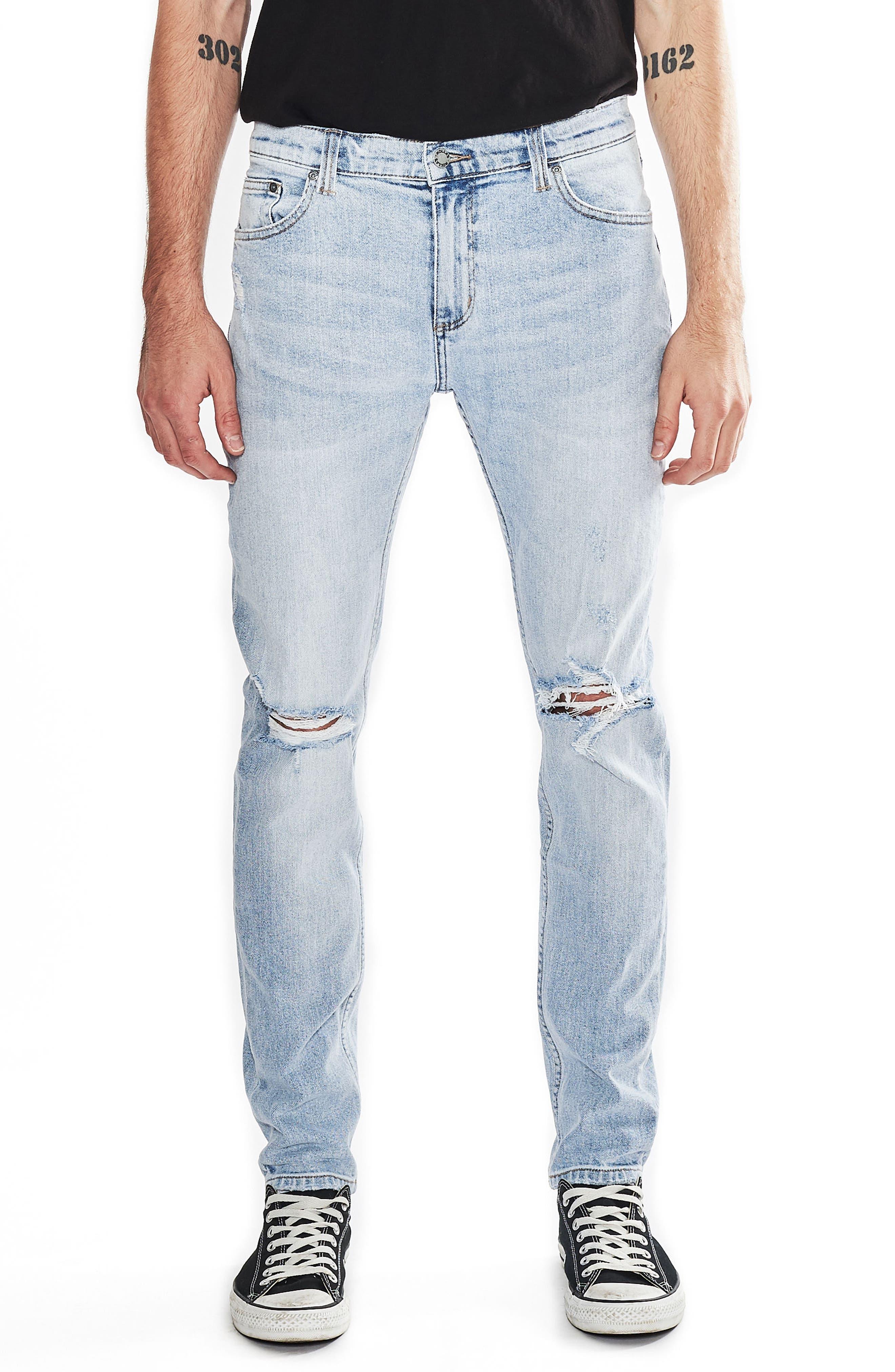 ROLLA'S Stinger Skinny Fit Jeans (Worn Blue)