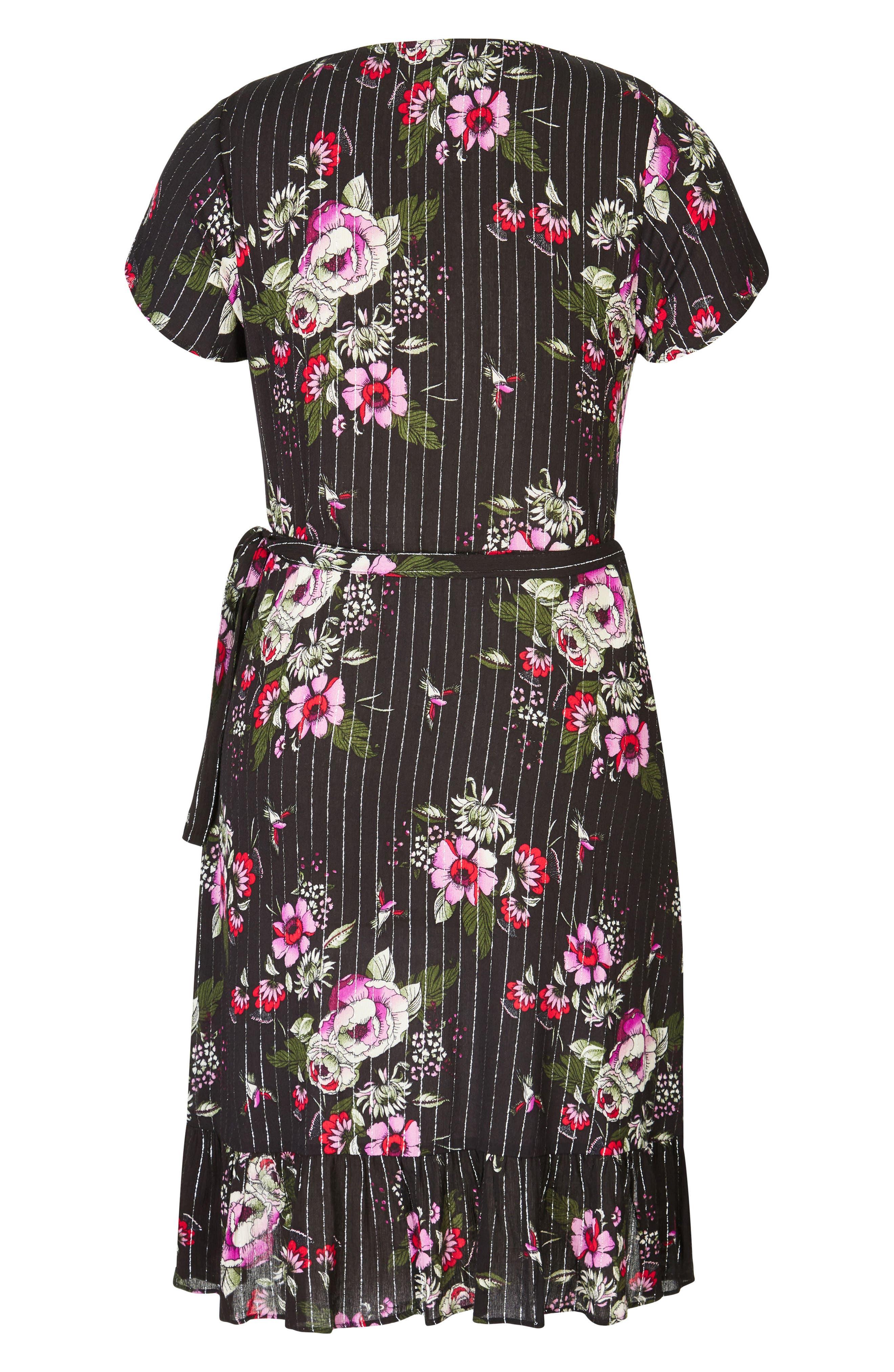 Lolita Wrap Dress,                             Alternate thumbnail 3, color,                             Black