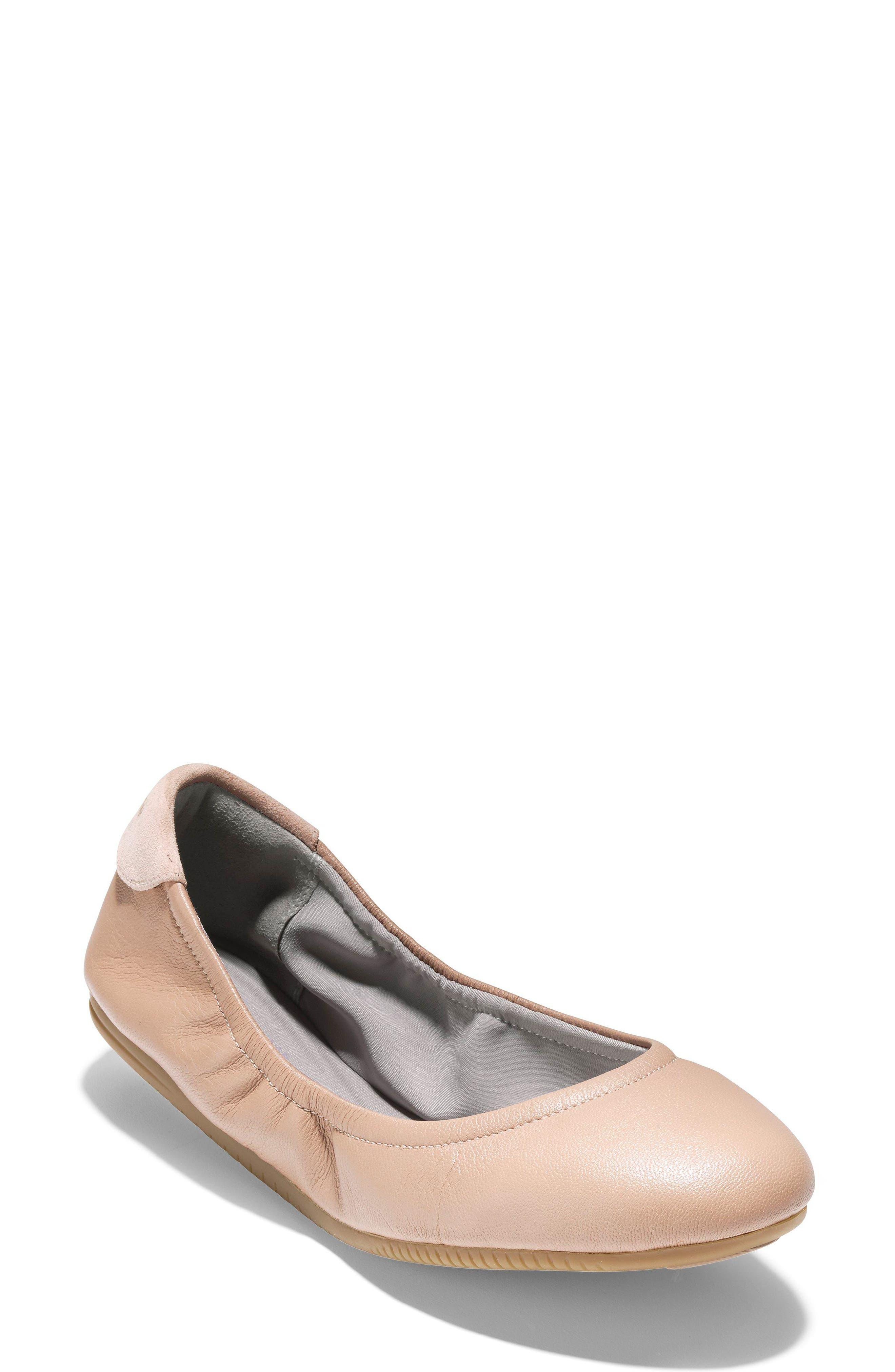 Studiogrand Ballet Flat,                             Main thumbnail 1, color,                             Maple Sugar Leather
