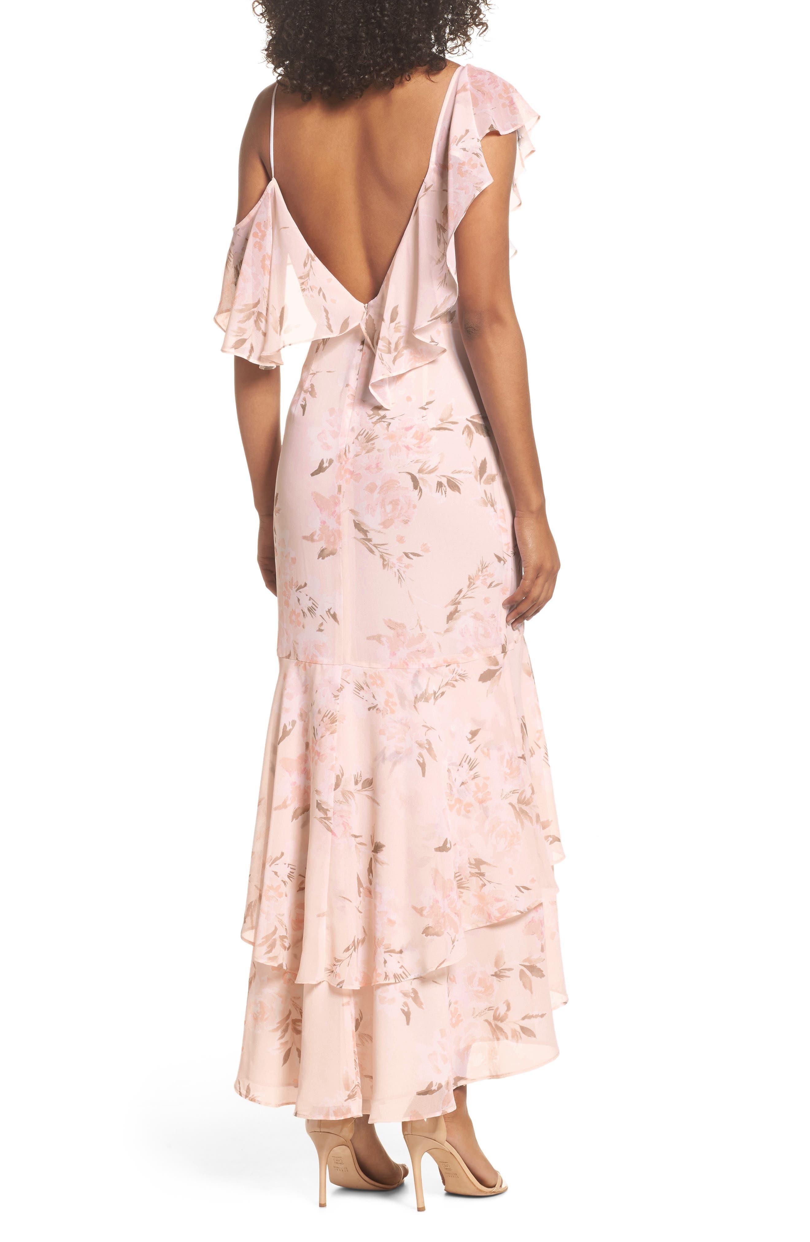 Elanor Ruffle Faux Wrap Maxi Dress,                             Alternate thumbnail 2, color,                             Blush Bouquet